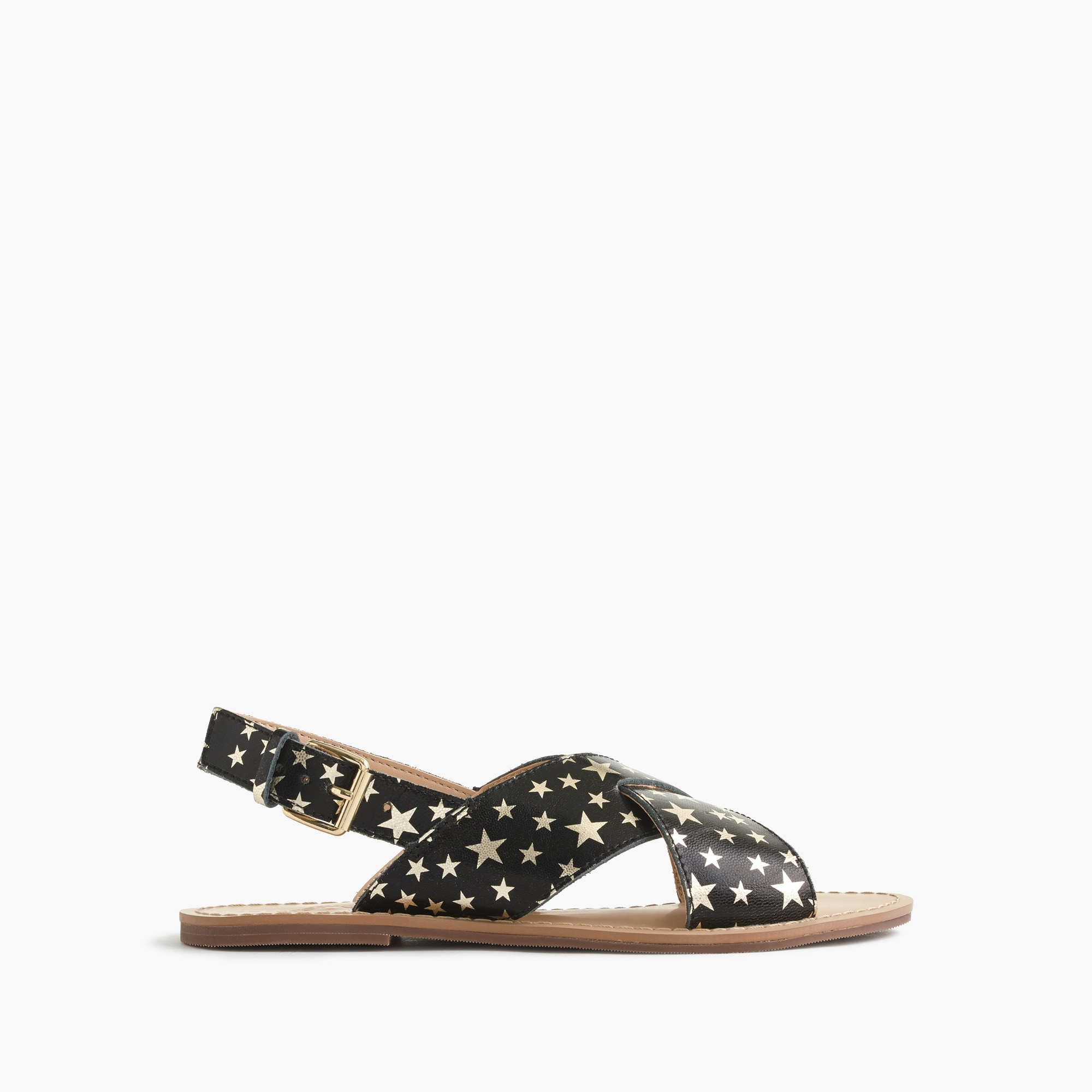 Girls' star-print Cyprus sandals