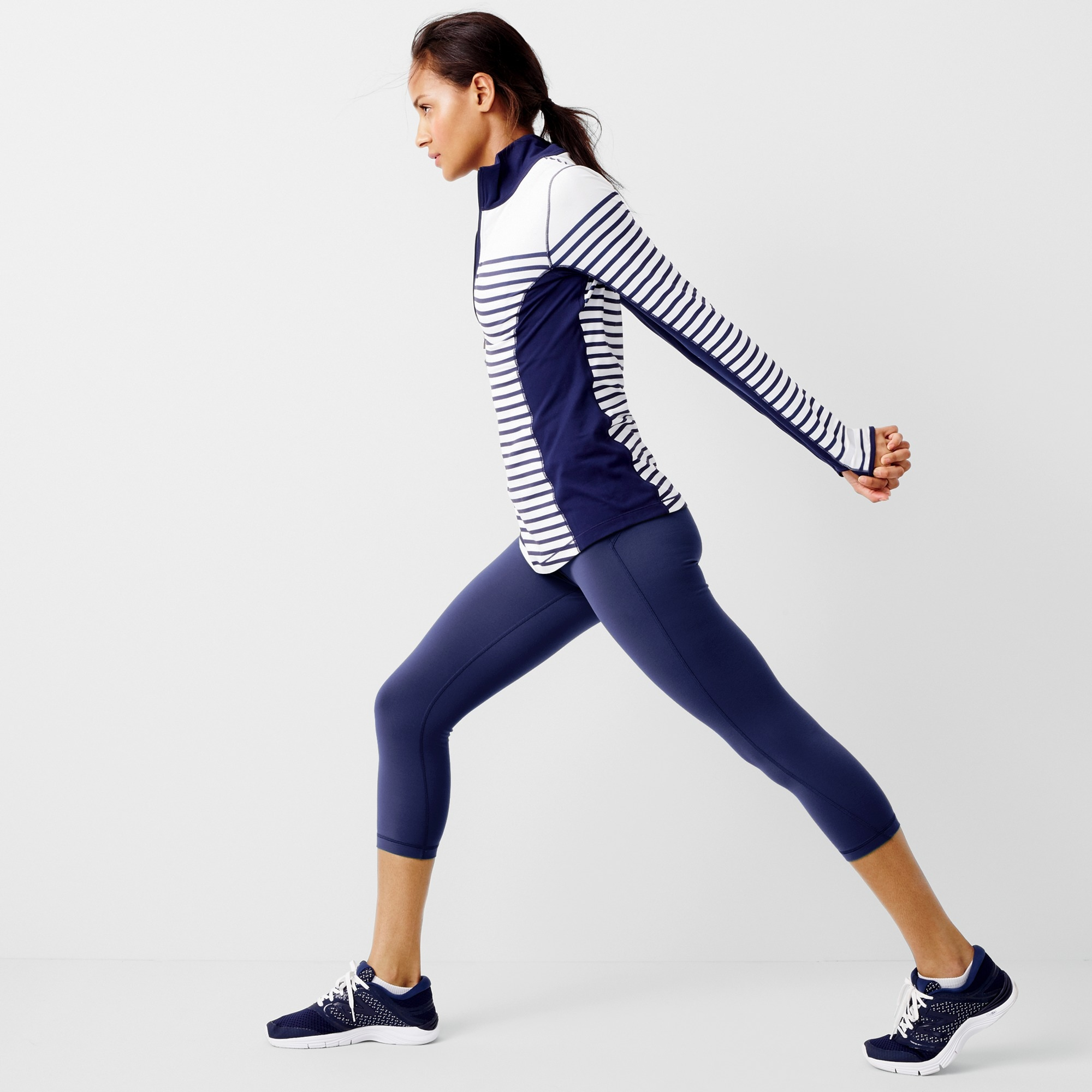 New Balance® for J.Crew in-transit pullover in stripe women j.crew in good company c
