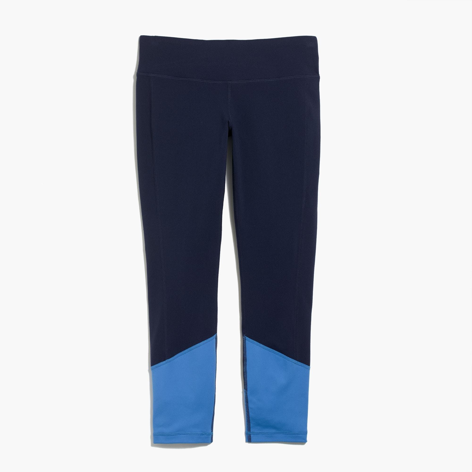 Colorblock premium performance capri leggings