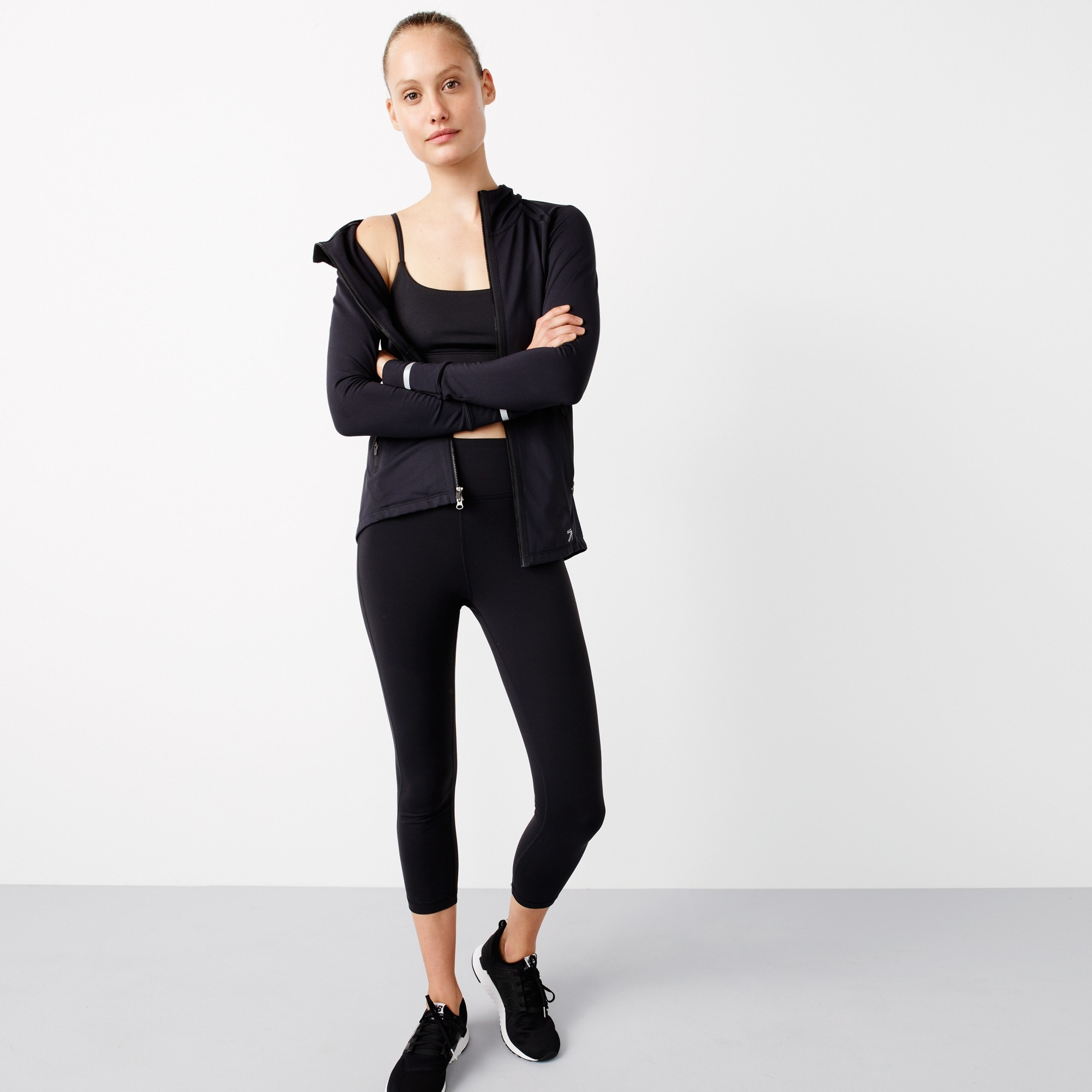 New Balance® for J.Crew high-waisted performance crop leggings women j.crew in good company c