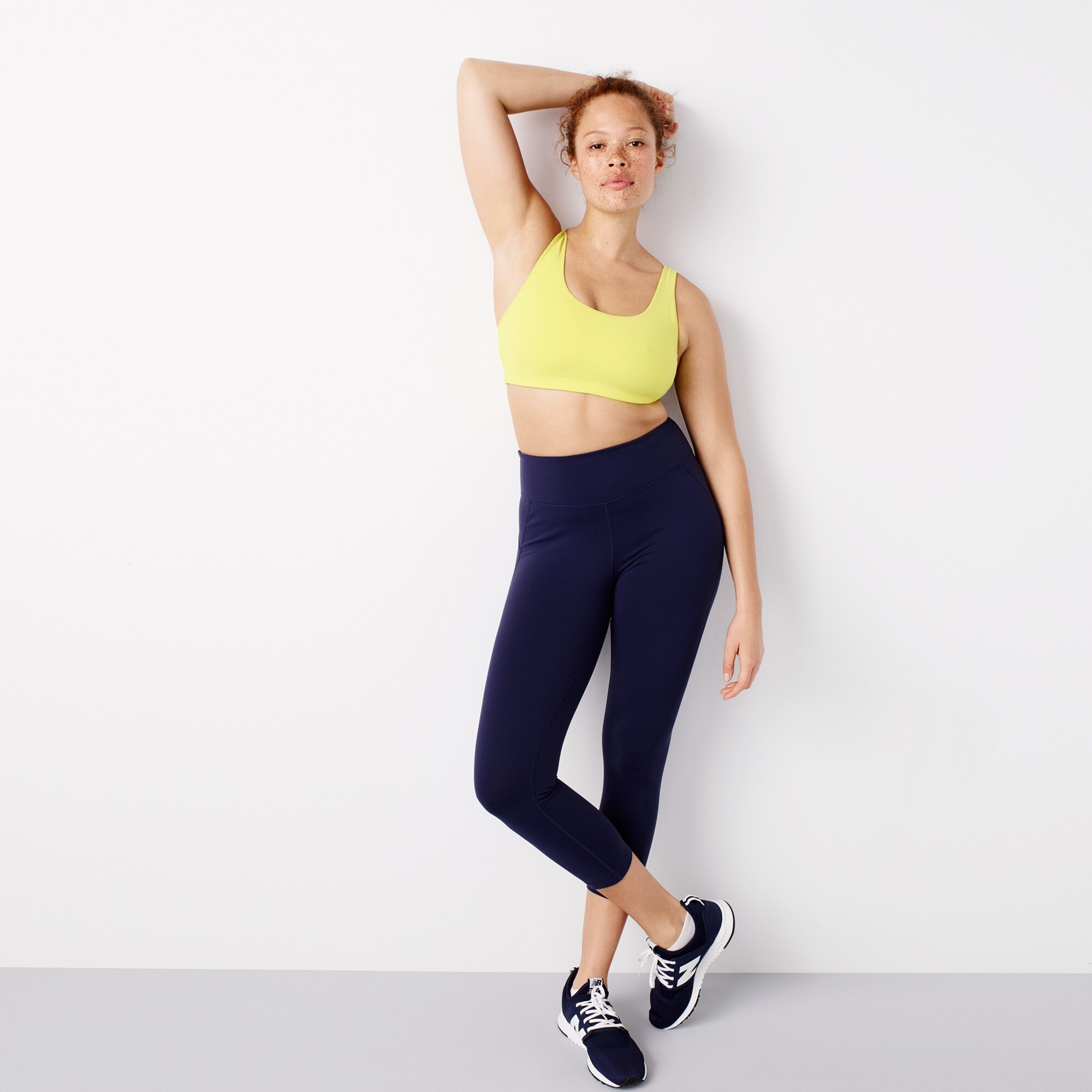 Image 1 for New Balance® for J.Crew high-waisted performance crop leggings
