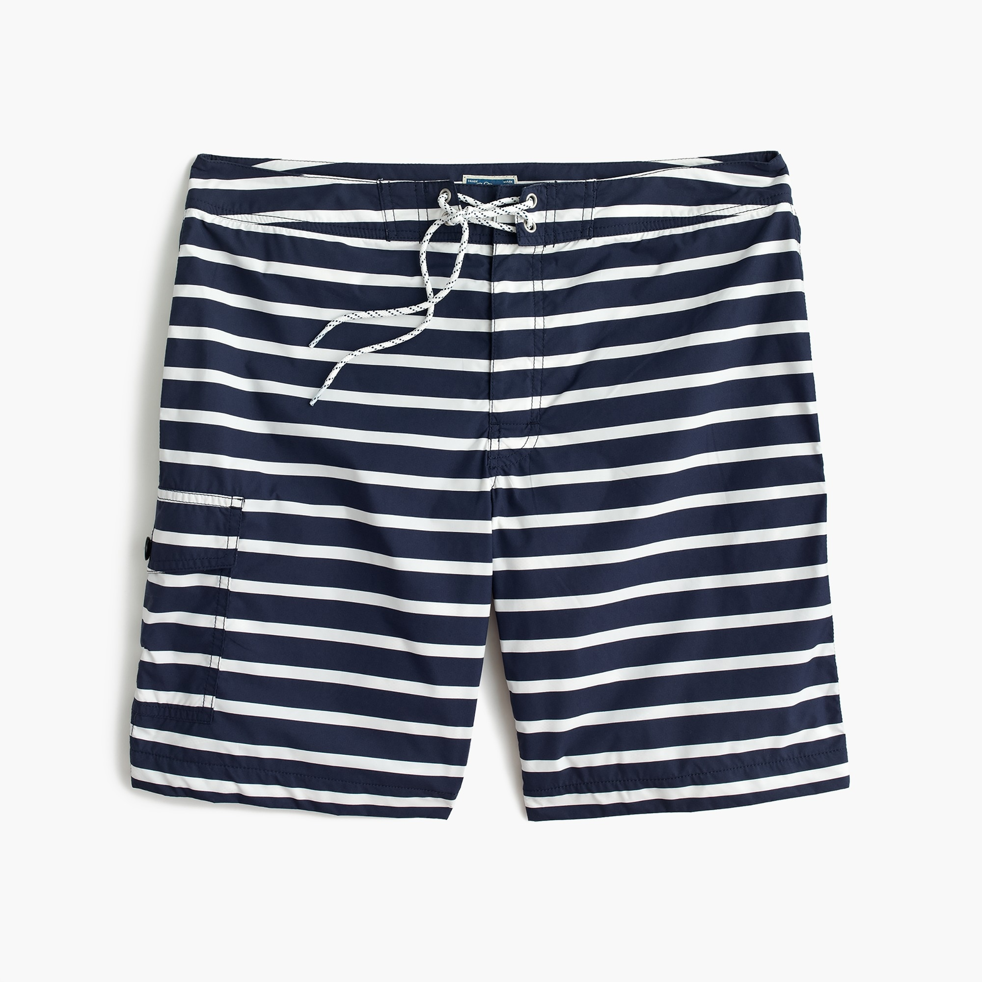 "Image 5 for 9"" board short in navy stripe"