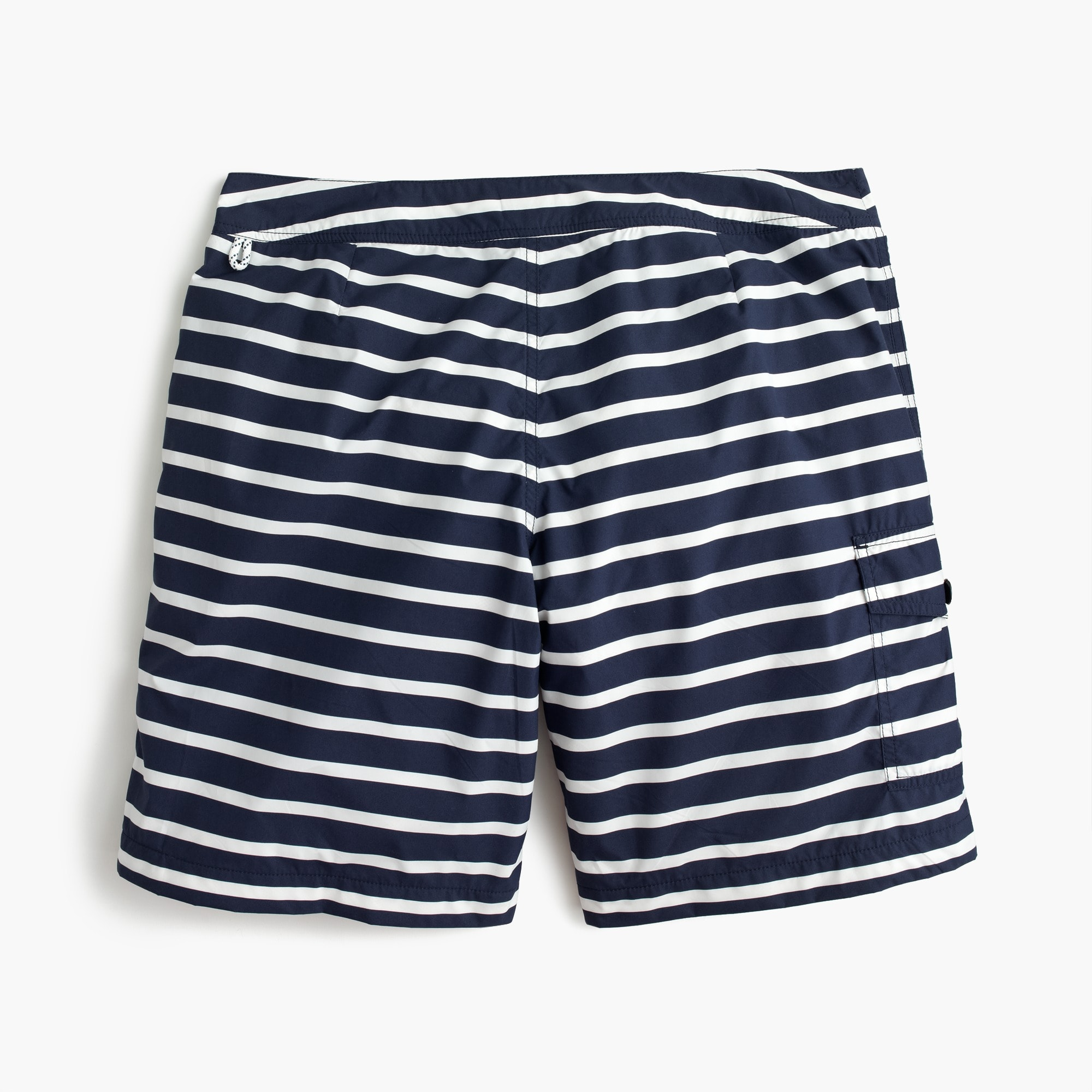 "9"" board short in navy stripe"
