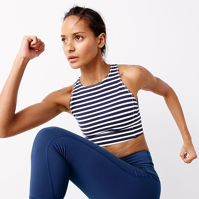 New Balance® for J.Crew performance crop top in stripe