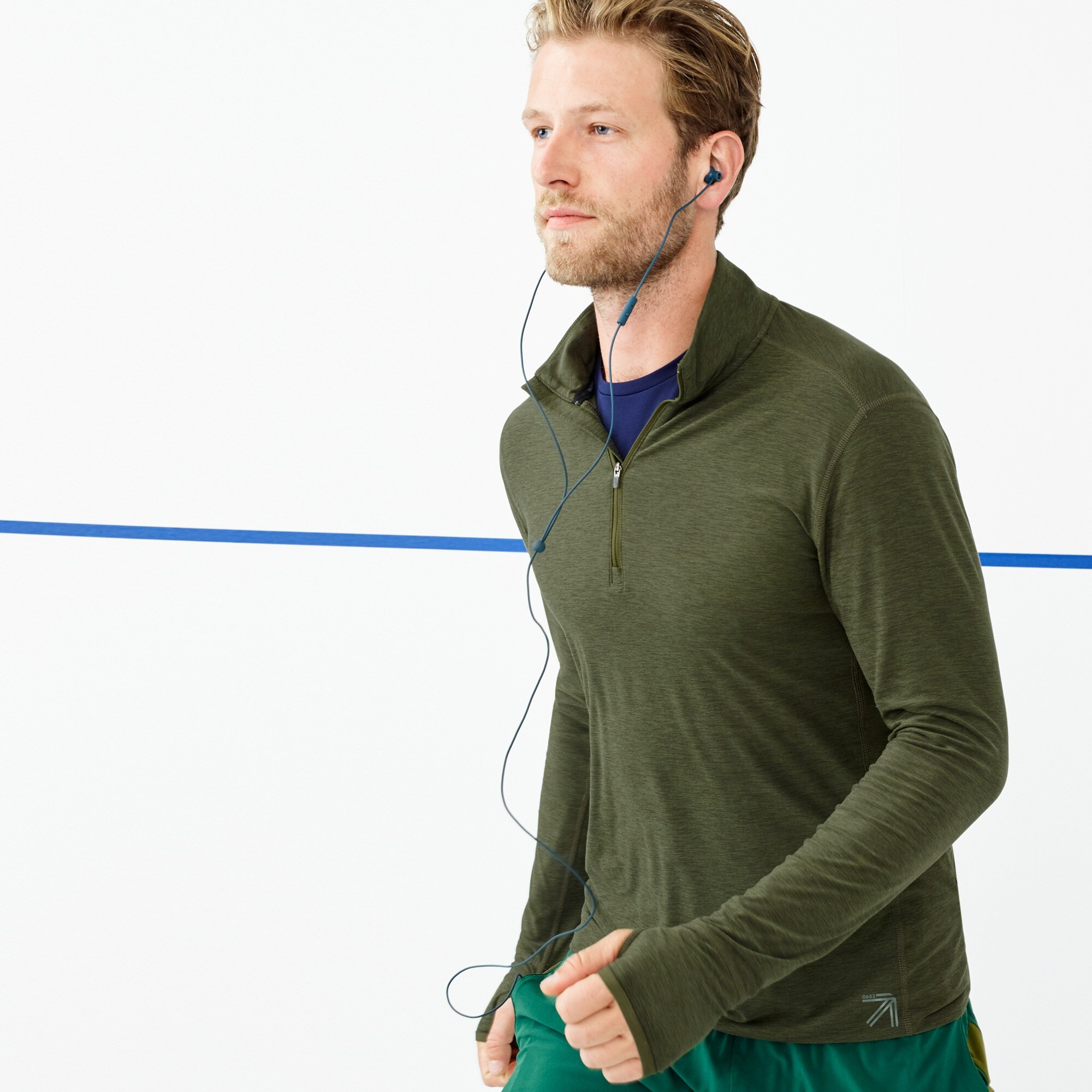 New Balance® for J.Crew half-zip pullover