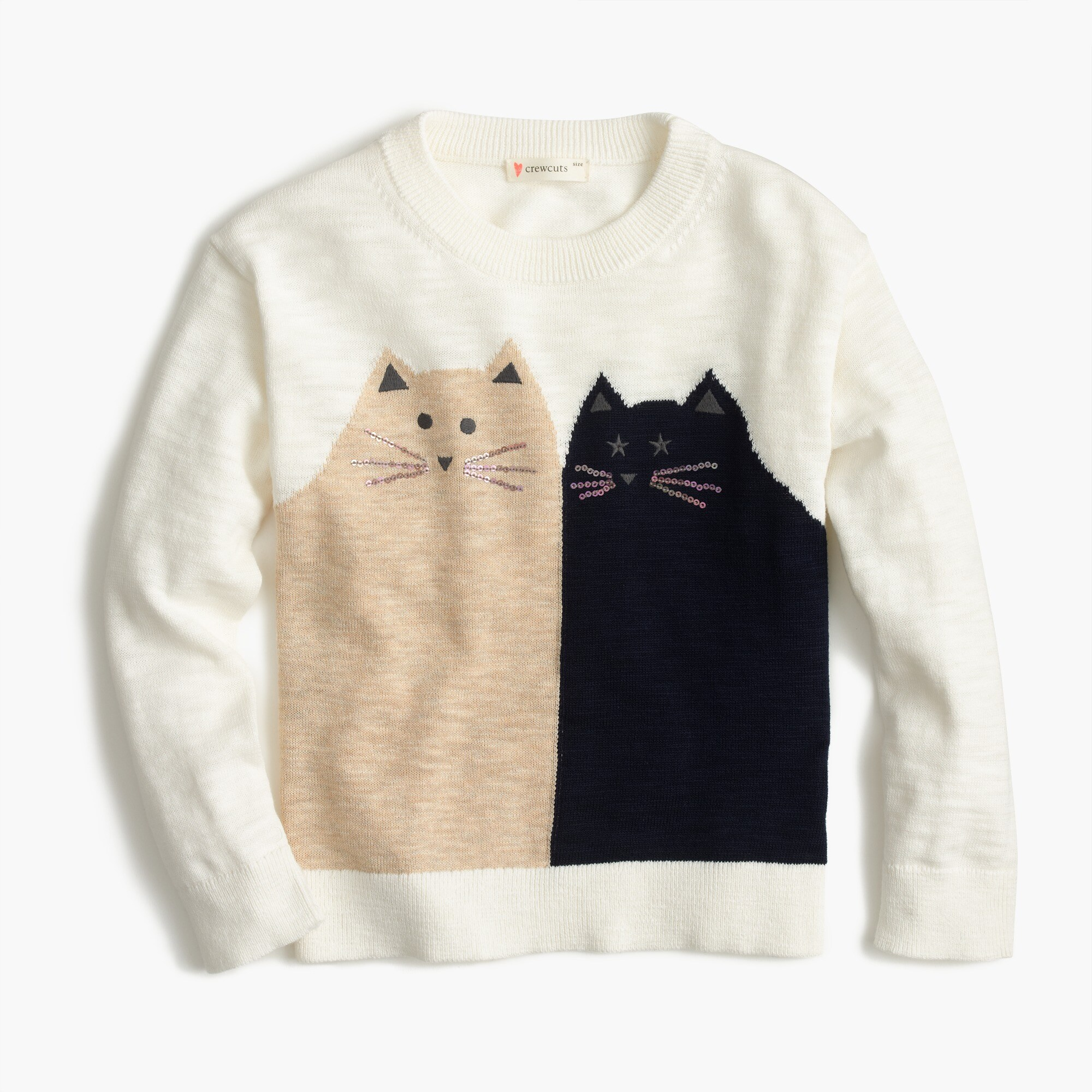 girls' kitty friends popover sweater : girls' sweaters