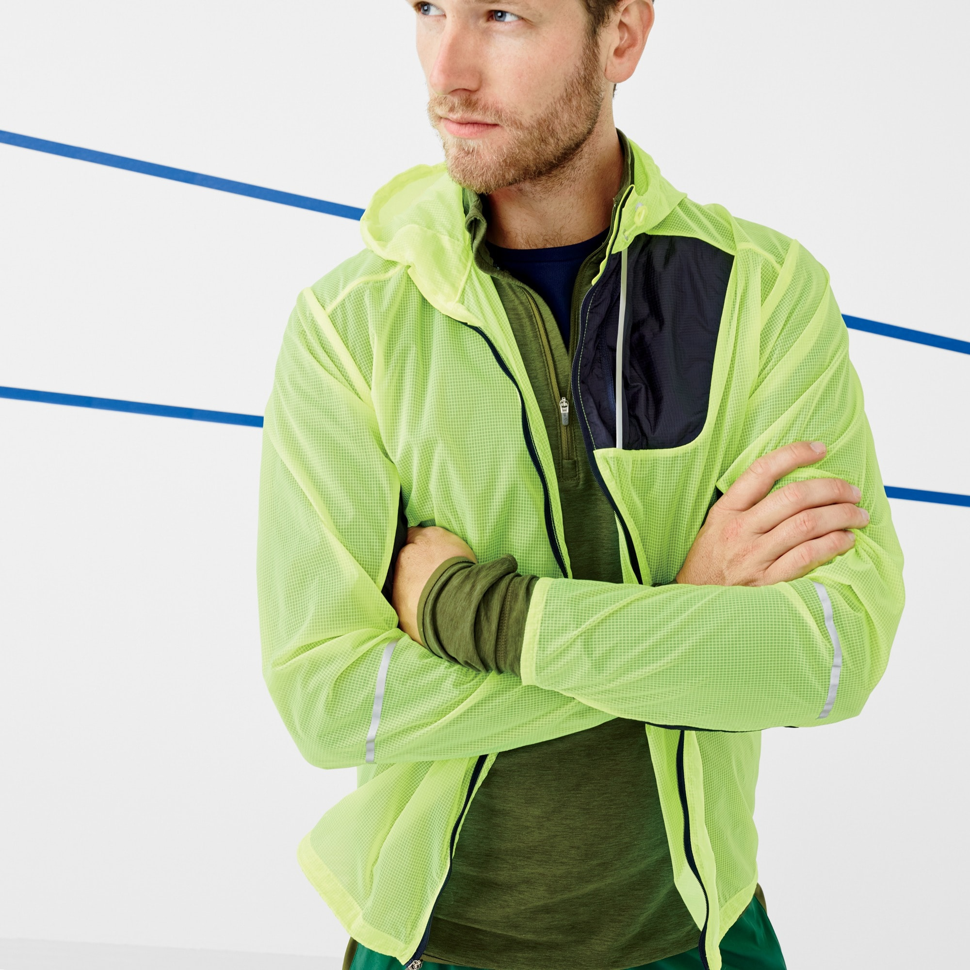 Image 4 for New Balance® for J.Crew lightweight packable jacket