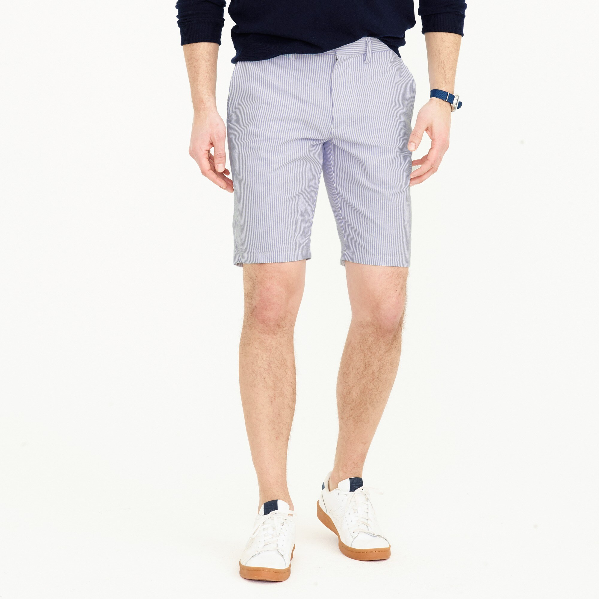 "10.5"" short in blue stripe : men's shorts"