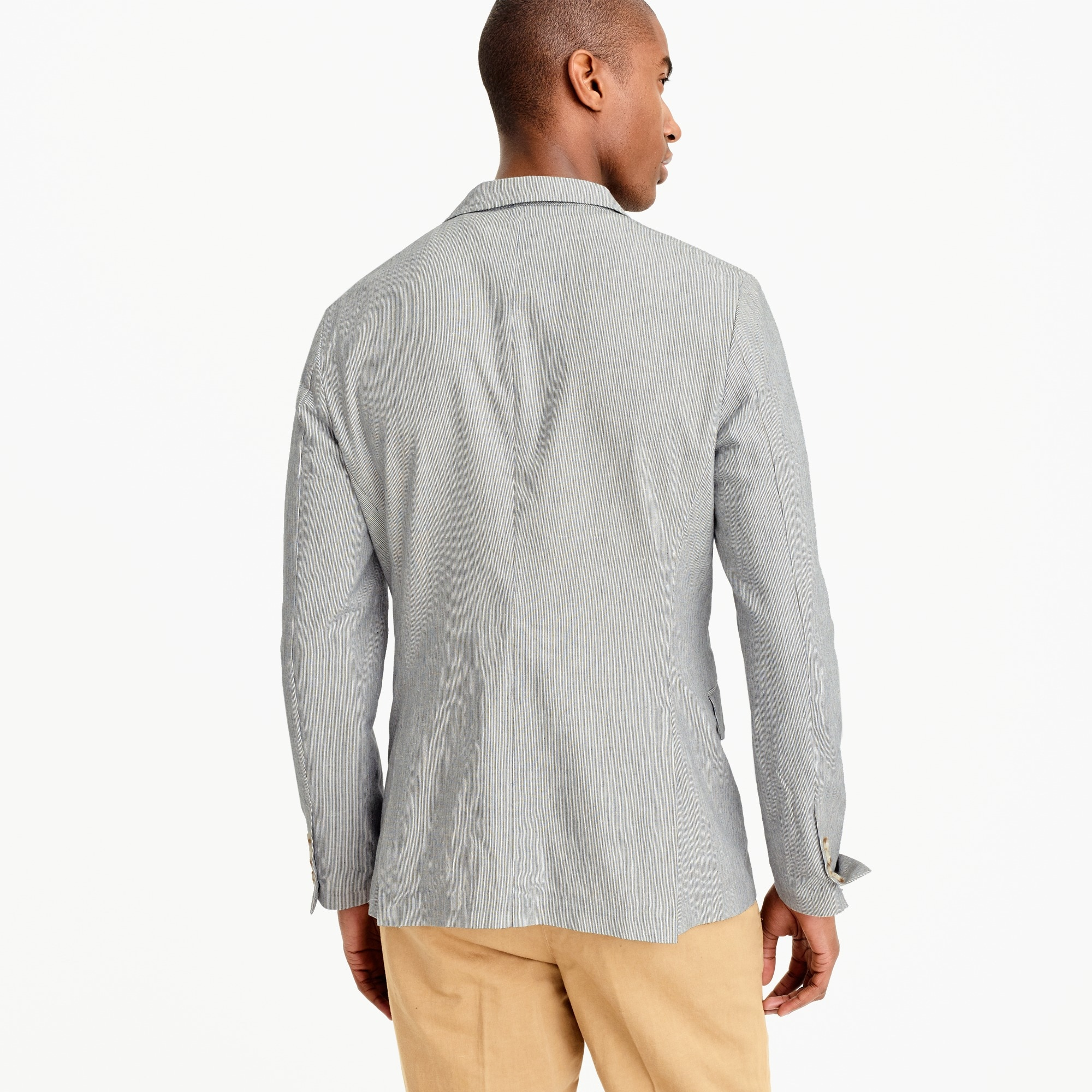 Image 3 for Unstructured Ludlow blazer in cotton-linen
