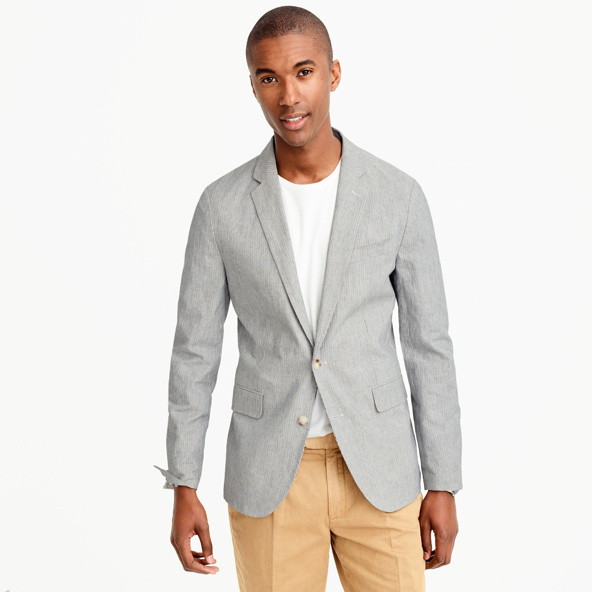 unstructured ludlow blazer in cotton-linen : men blazers