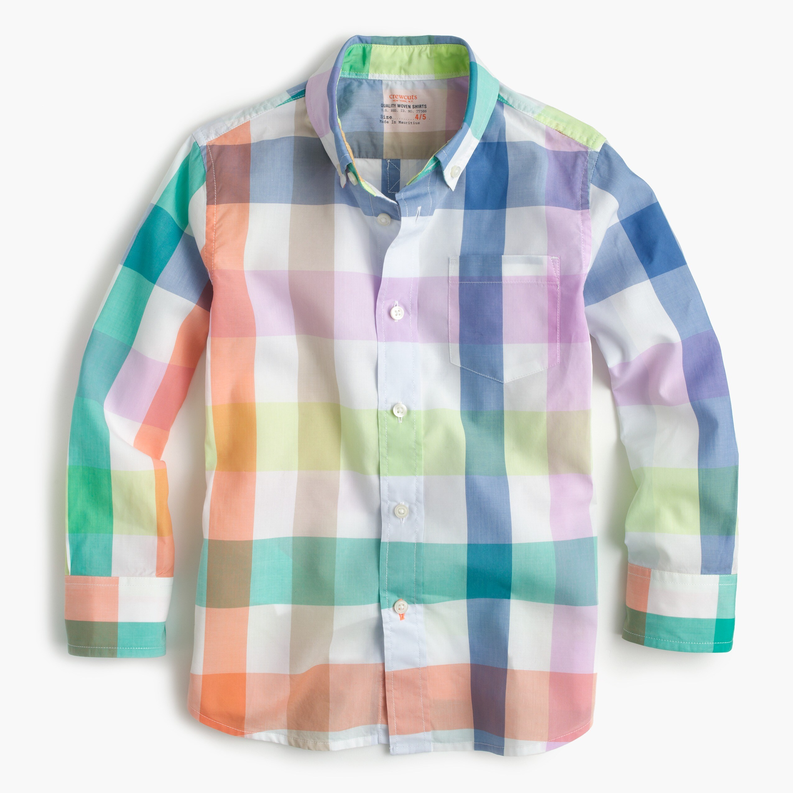 Image 2 for Kids' Secret Wash shirt in pastel gingham