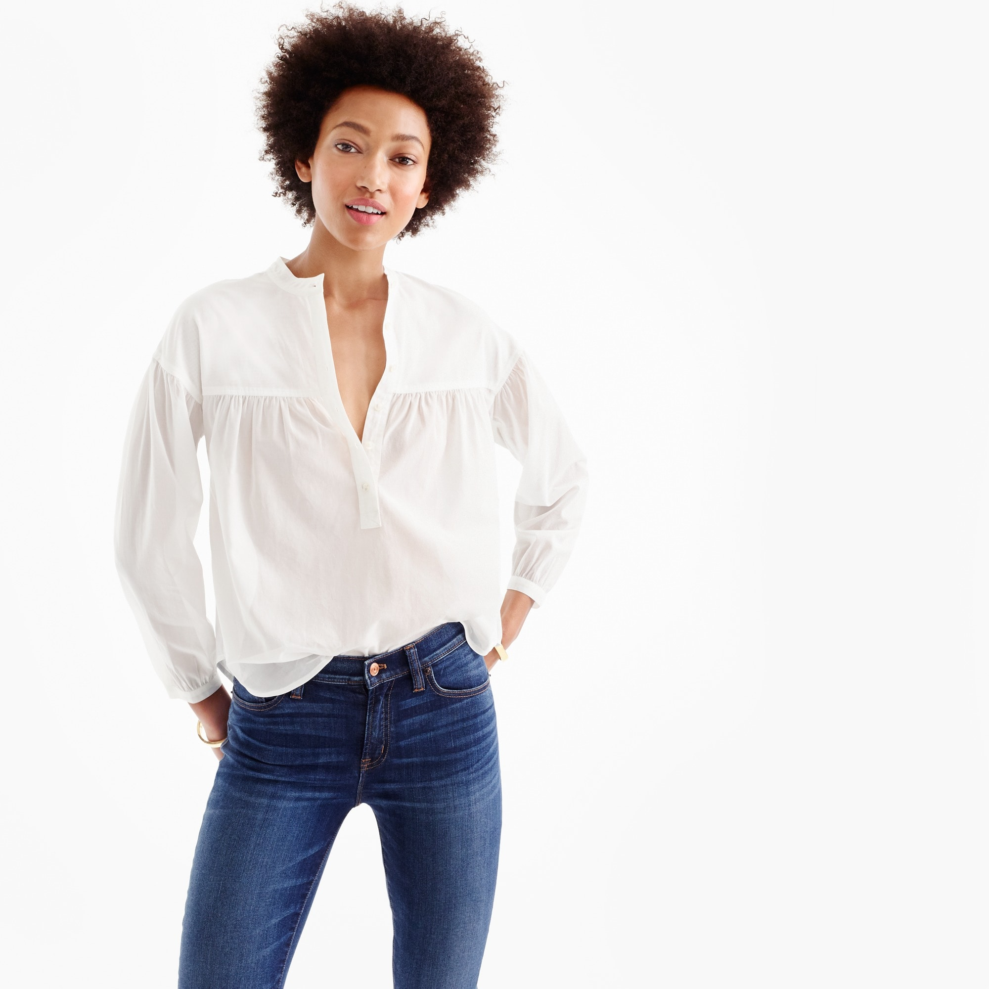 Collection Thomas Mason® for J.Crew cotton voile popover