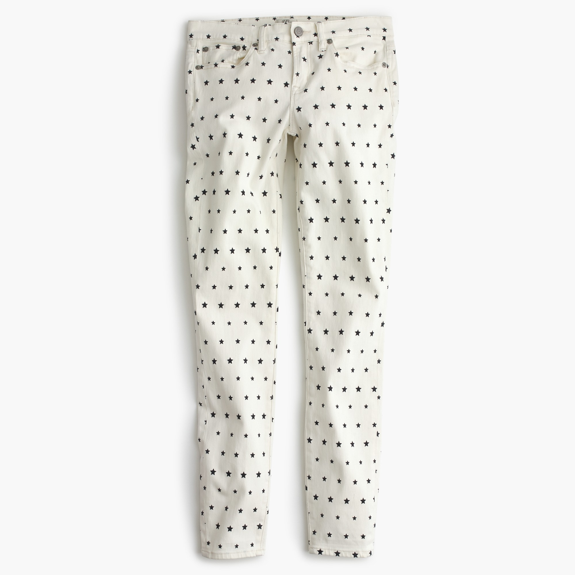 "8"" toothpick jean in mini star print"