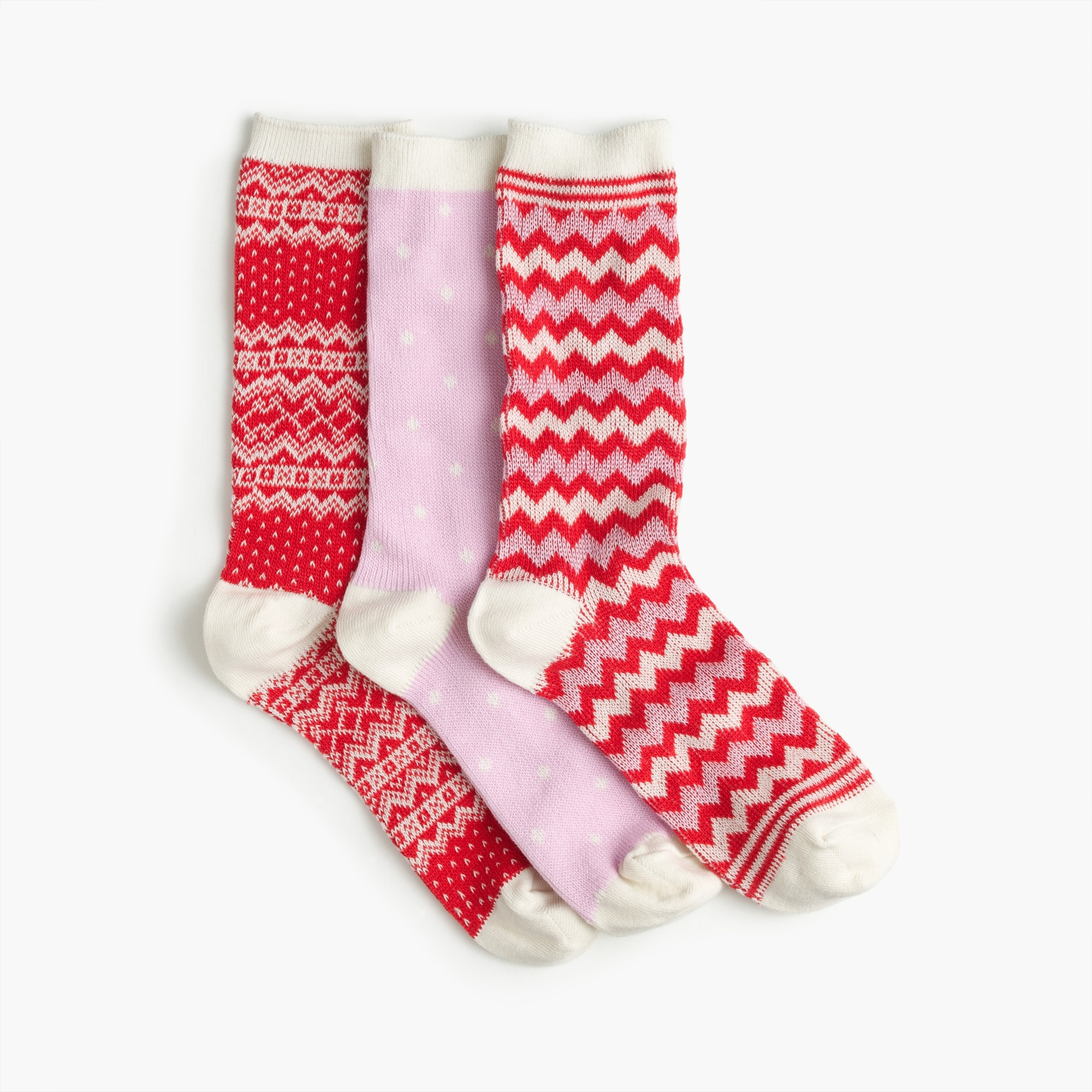 mixed holiday trouser sock 3-pack : women's socks