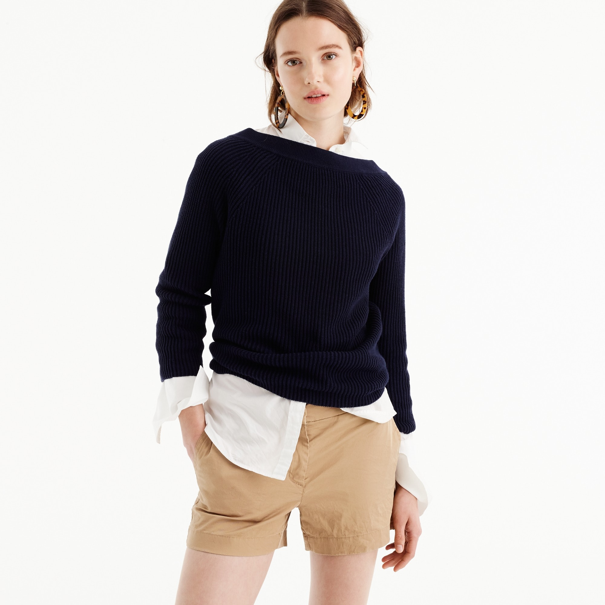 "3"" stretch chino short : women cotton & chino"
