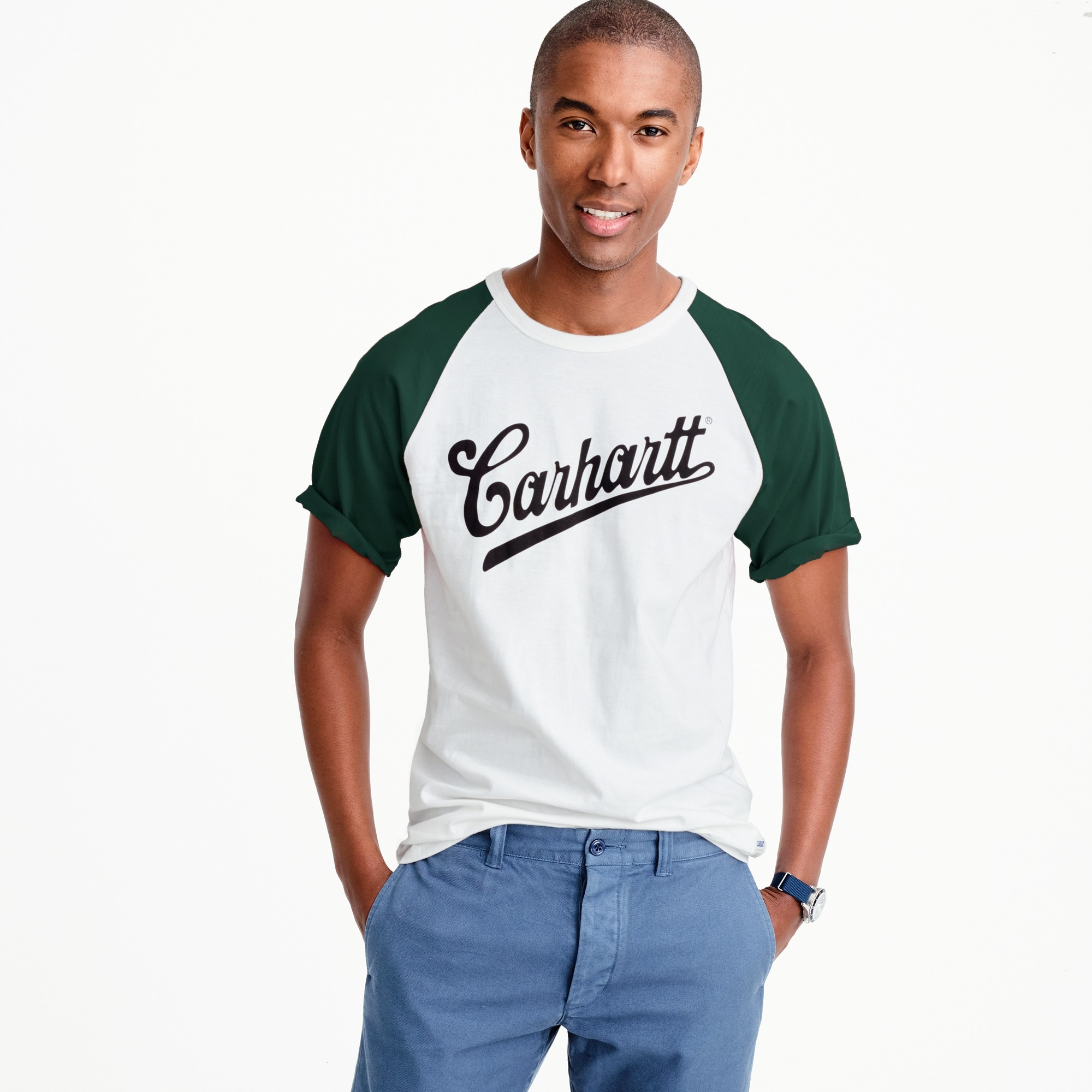 Carhartt® Work in Progress baseball T-shirt men j.crew in good company c