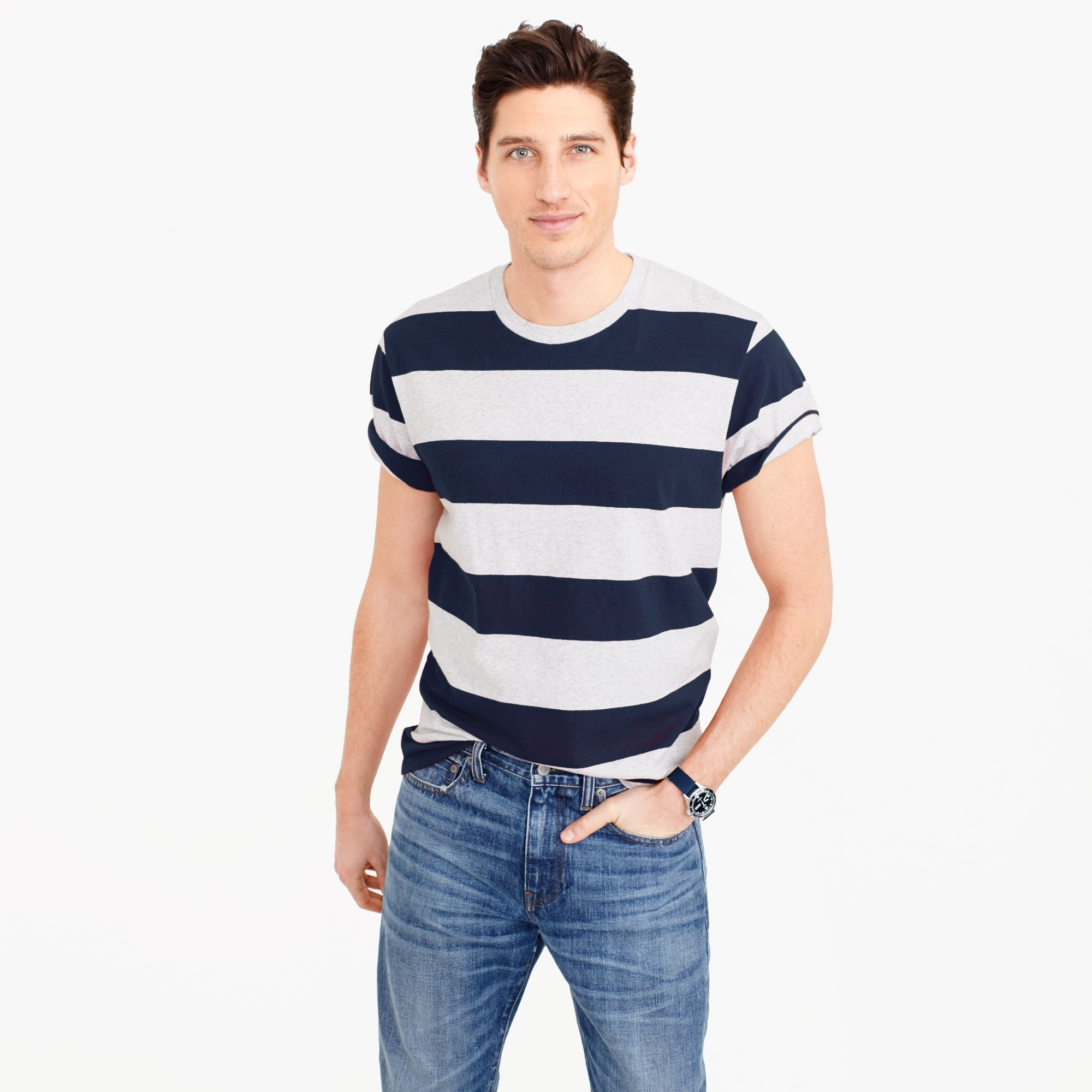 Carhartt® Work in Progress wide-stripe T-shirt men j.crew in good company c