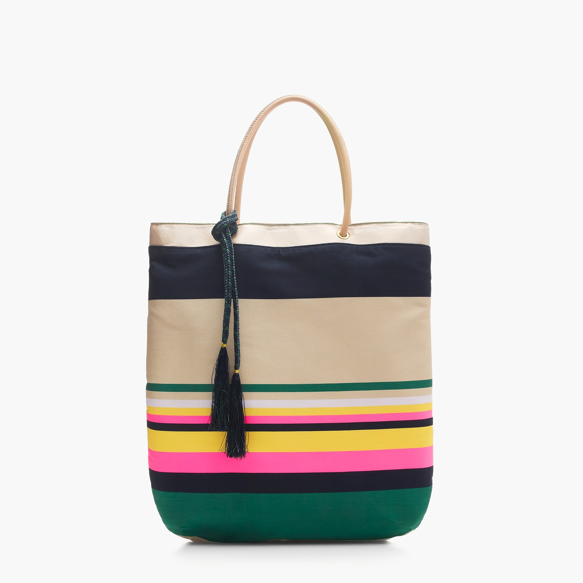 Pop-stripe tote
