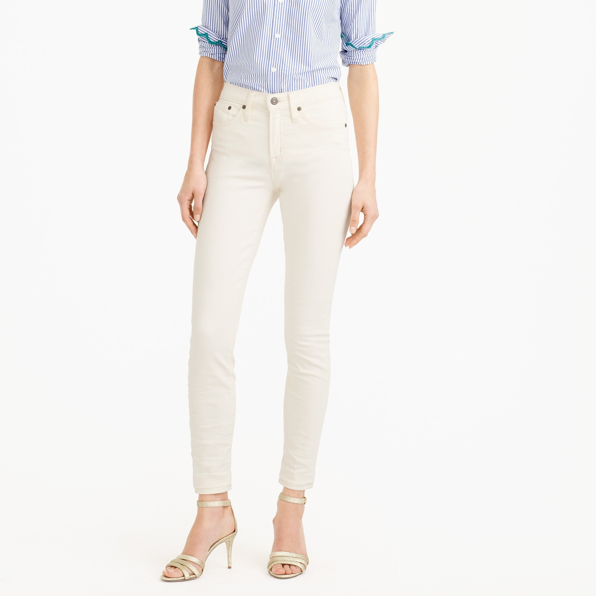 "9"" lookout jean in ecru : women white denim"