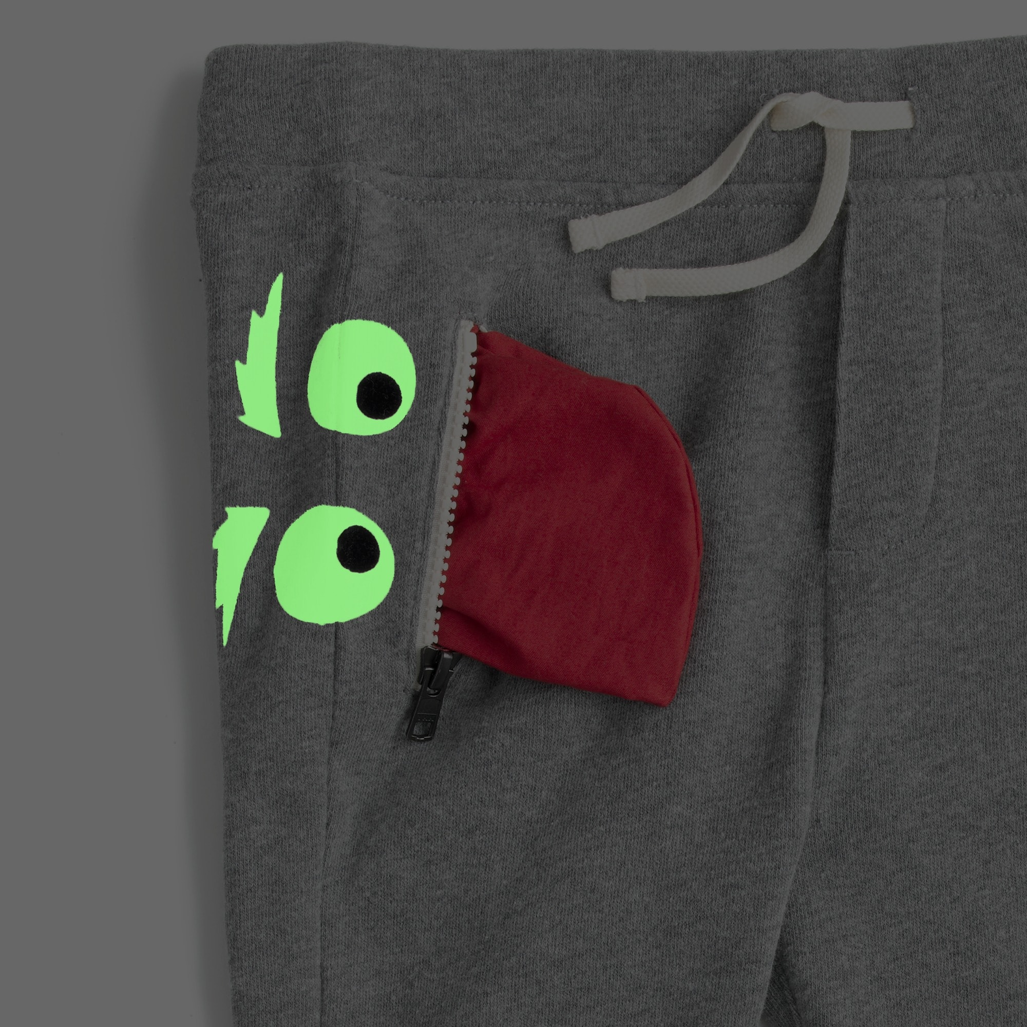 Kids' glow-in-the-dark Max the Monster sweatpant in slim fit