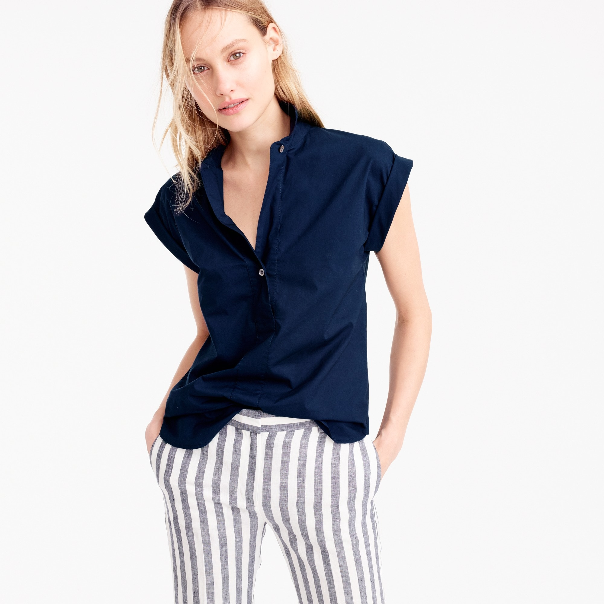 tall short-sleeve popover : women shirts