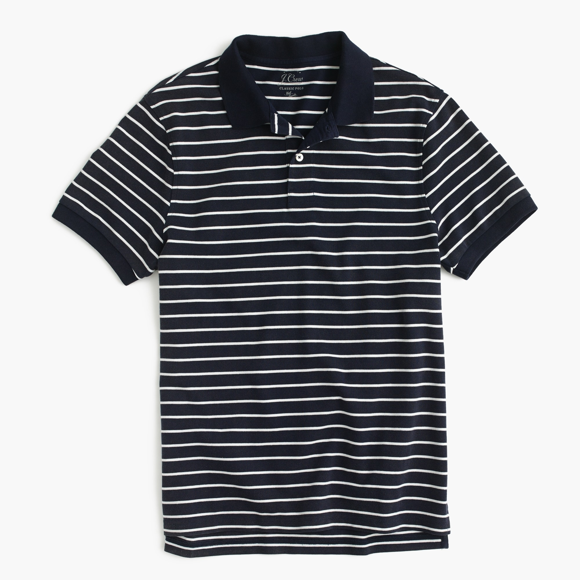 Classic piqué polo shirt in stripe