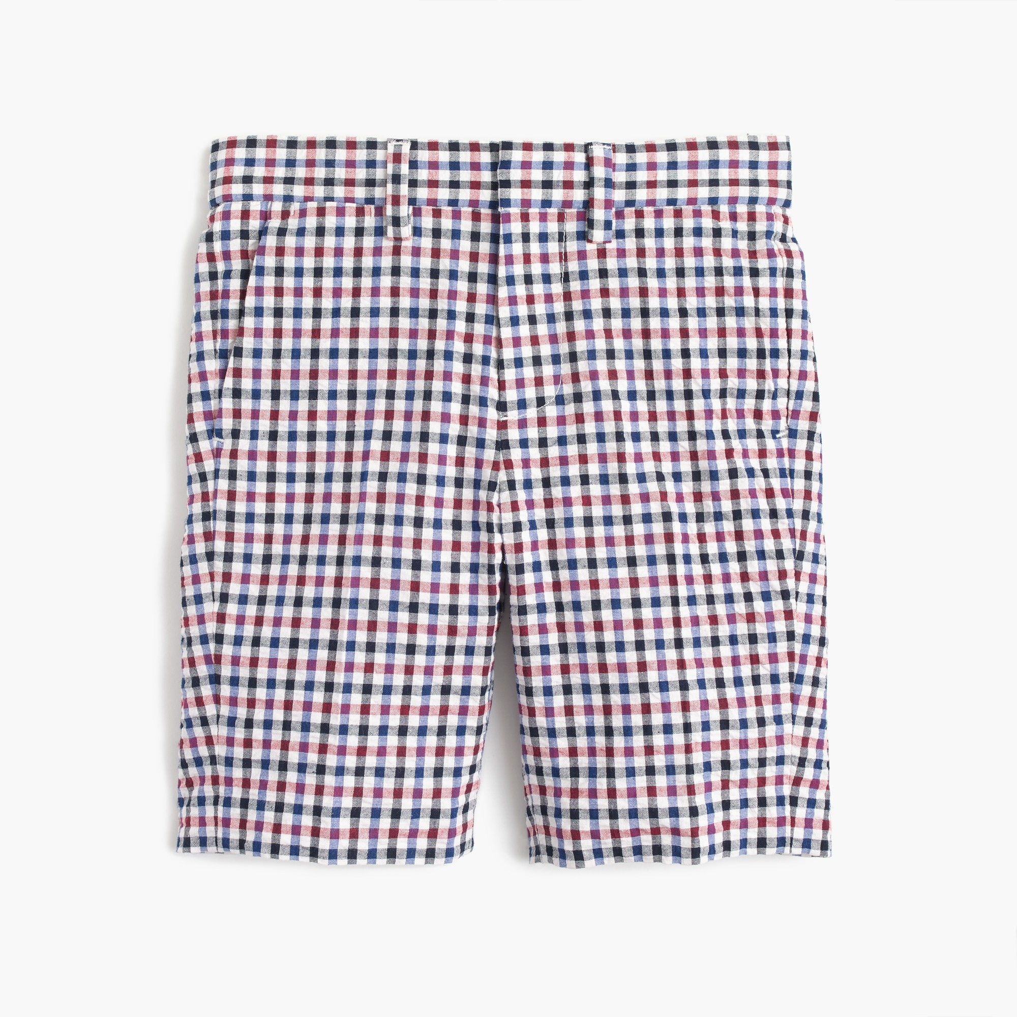 Image 1 for Boys' Ludlow suit short in puckered gingham