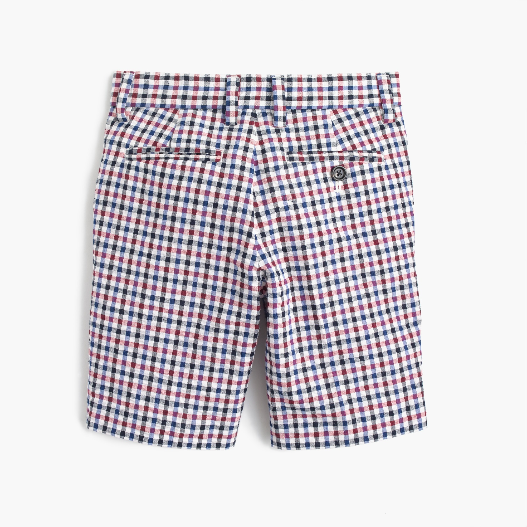 Image 2 for Boys' Ludlow suit short in puckered gingham