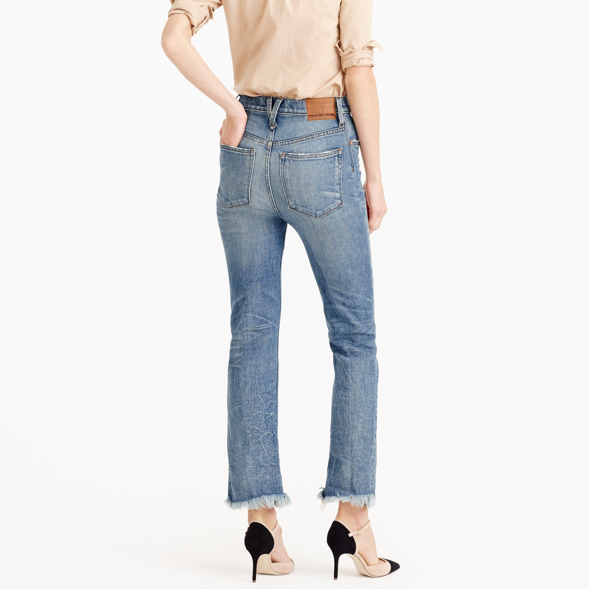 Image 3 for Point Sur relaxed cropped bootcut jean