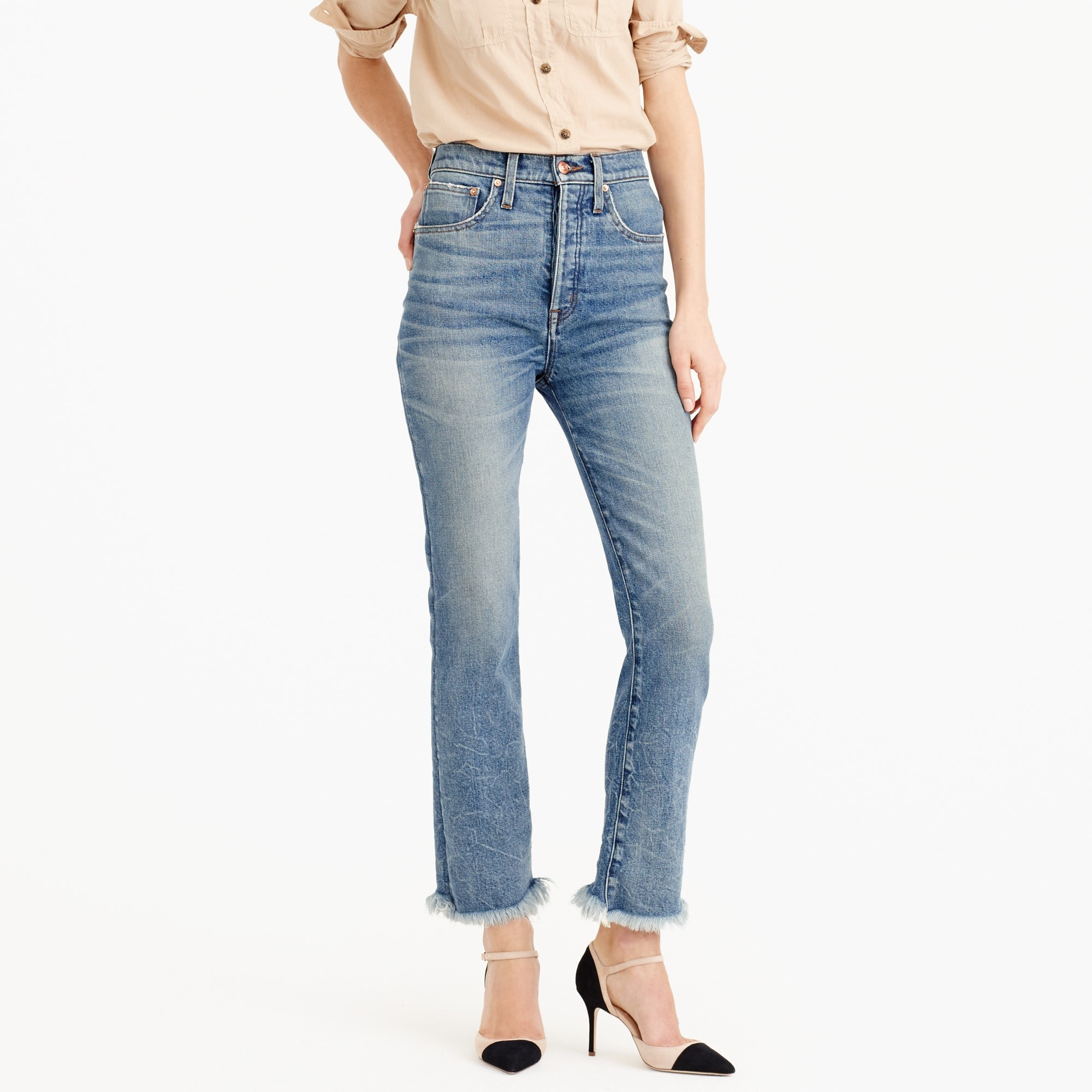 Image 2 for Point Sur relaxed cropped bootcut jean