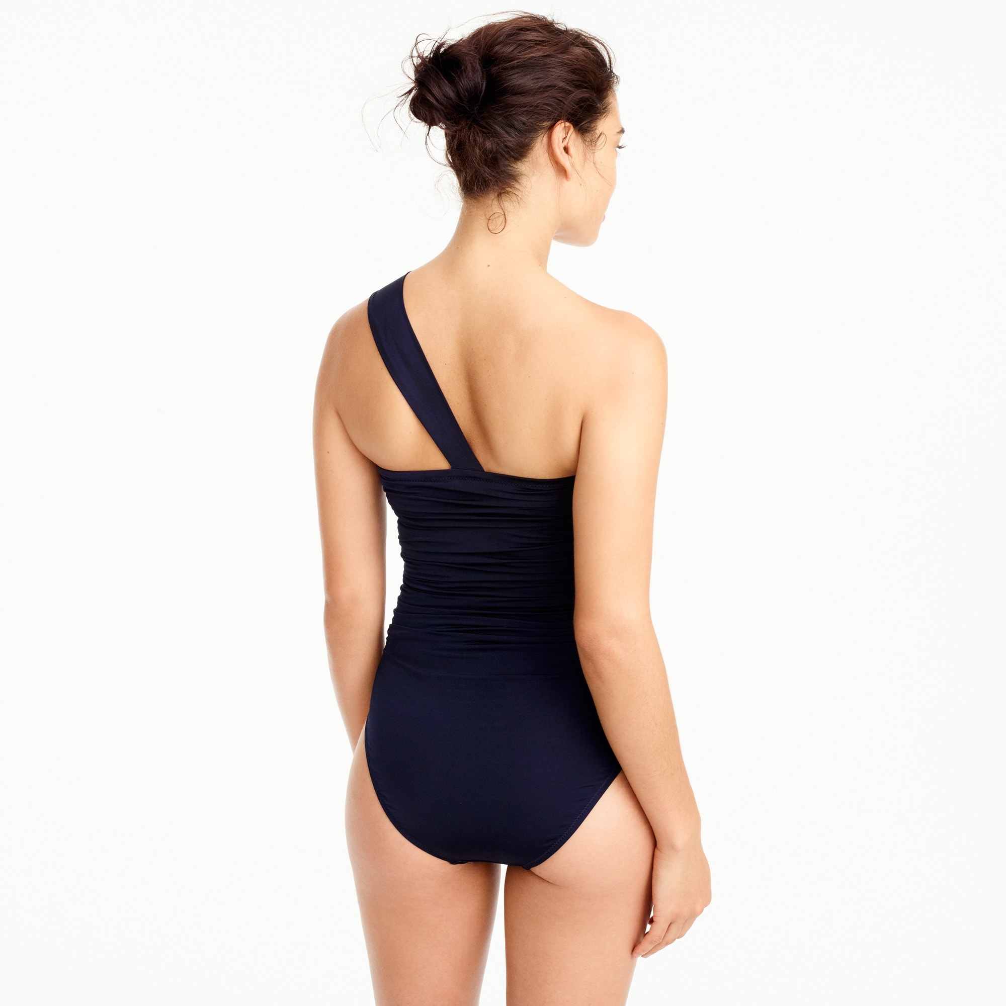 Image 3 for Jersey Lomellina® one-shoulder one-piece swimsuit