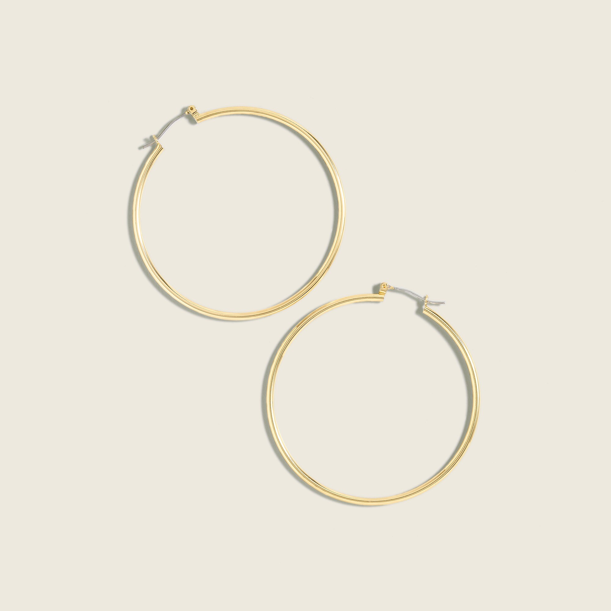 Image 2 for Antique-gold hoop earrings