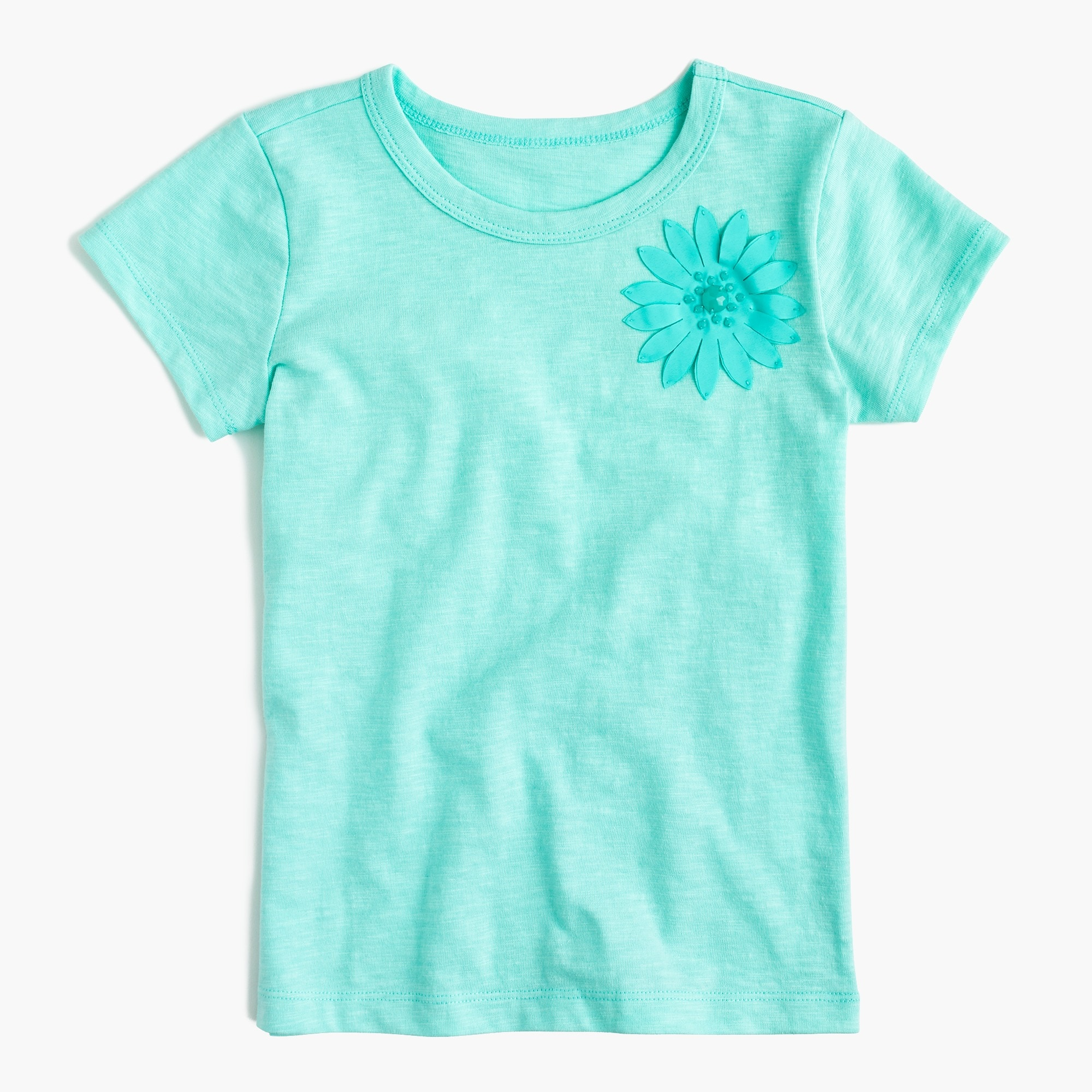 Girls' embellished flower T-shirt girl new arrivals c