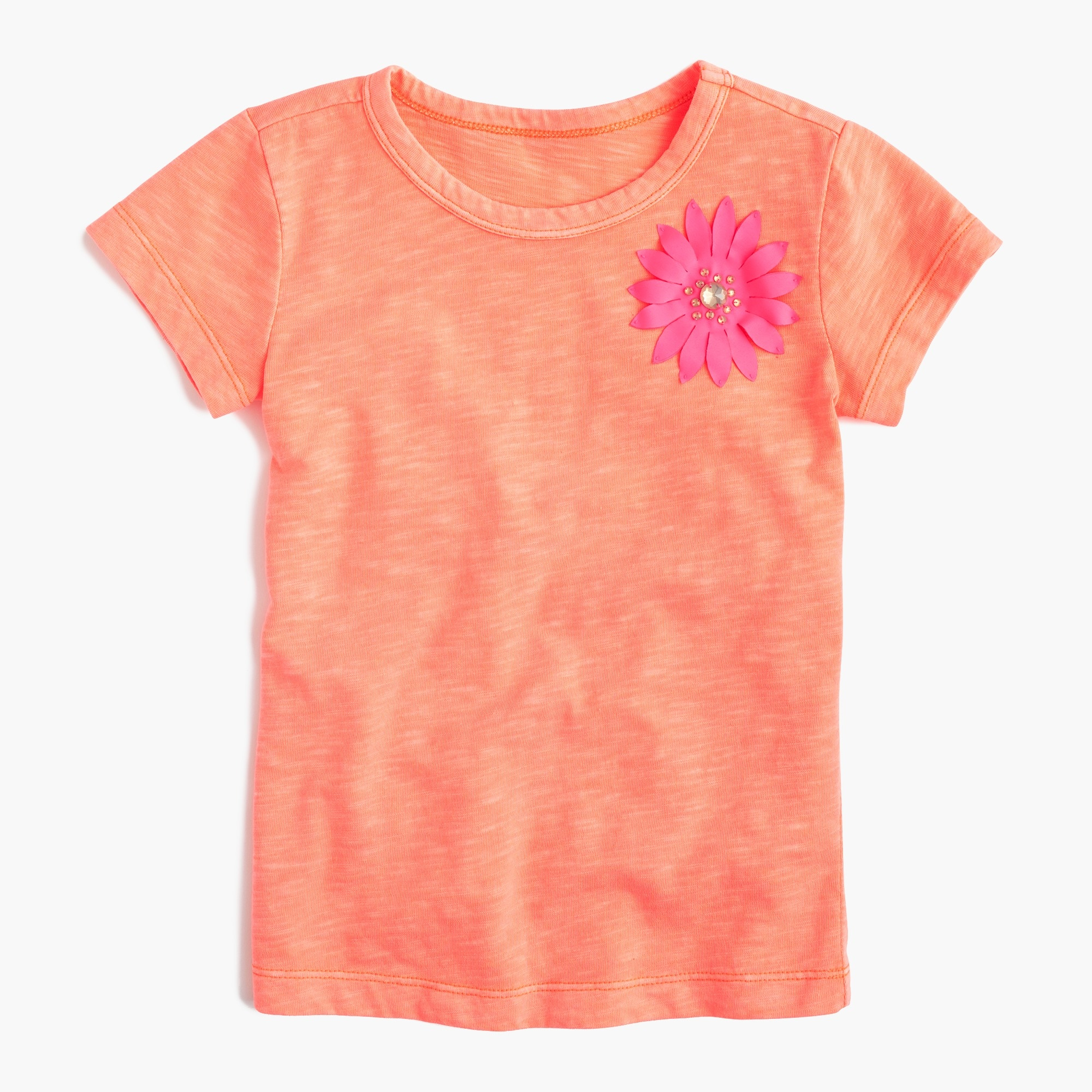 Image 1 for Girls' embellished flower T-shirt