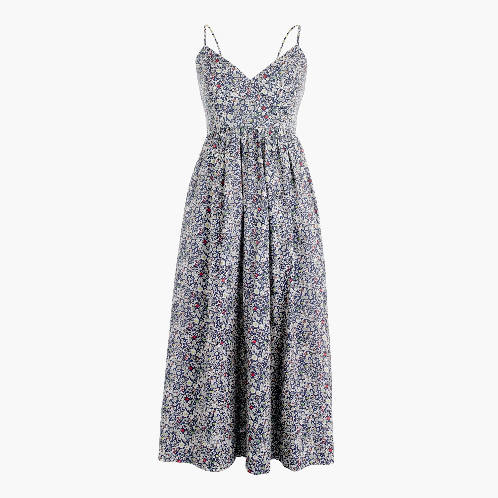 Image 2 for Spaghetti-strap dress in Liberty® June's Meadow floral