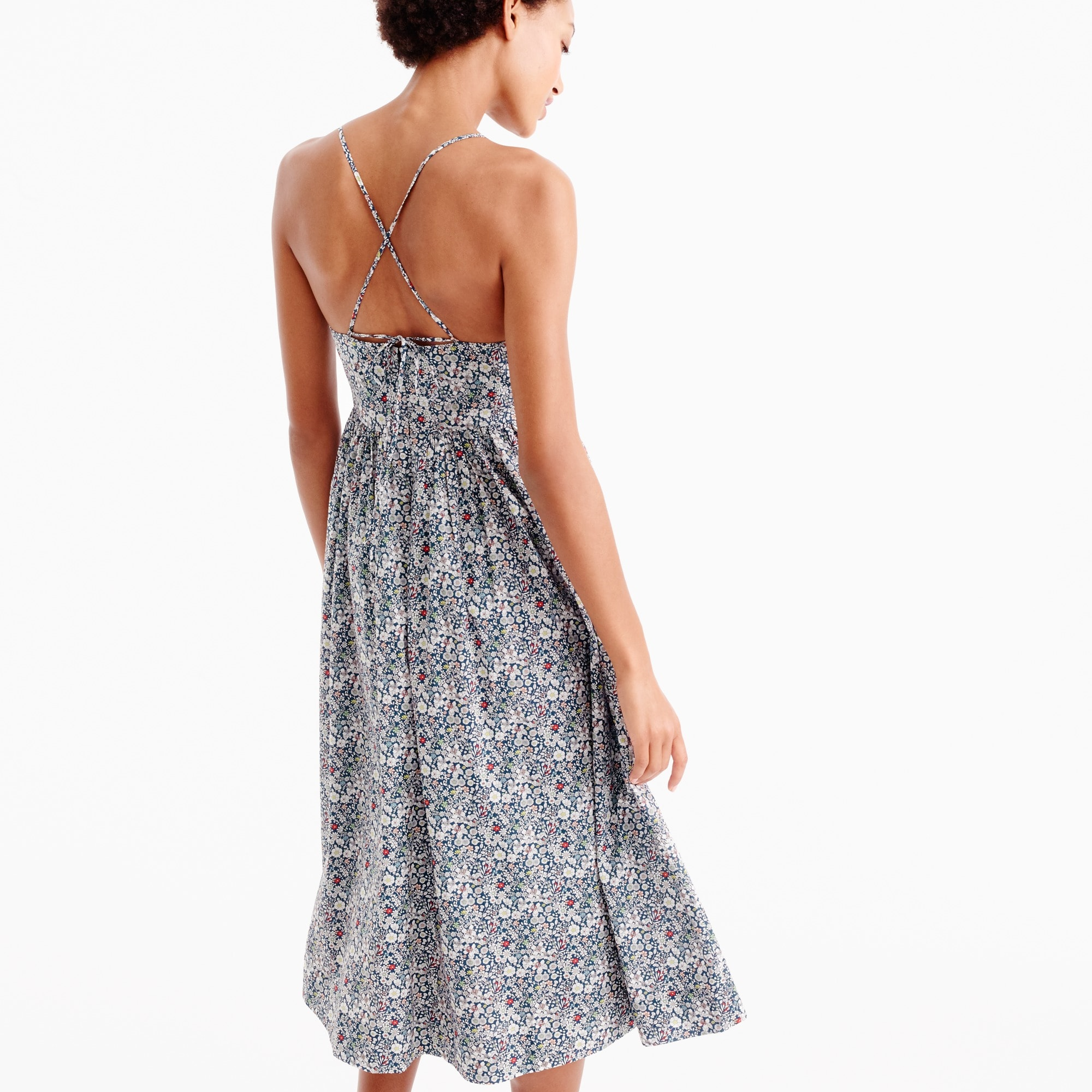 Spaghetti-strap dress in Liberty® June's Meadow floral
