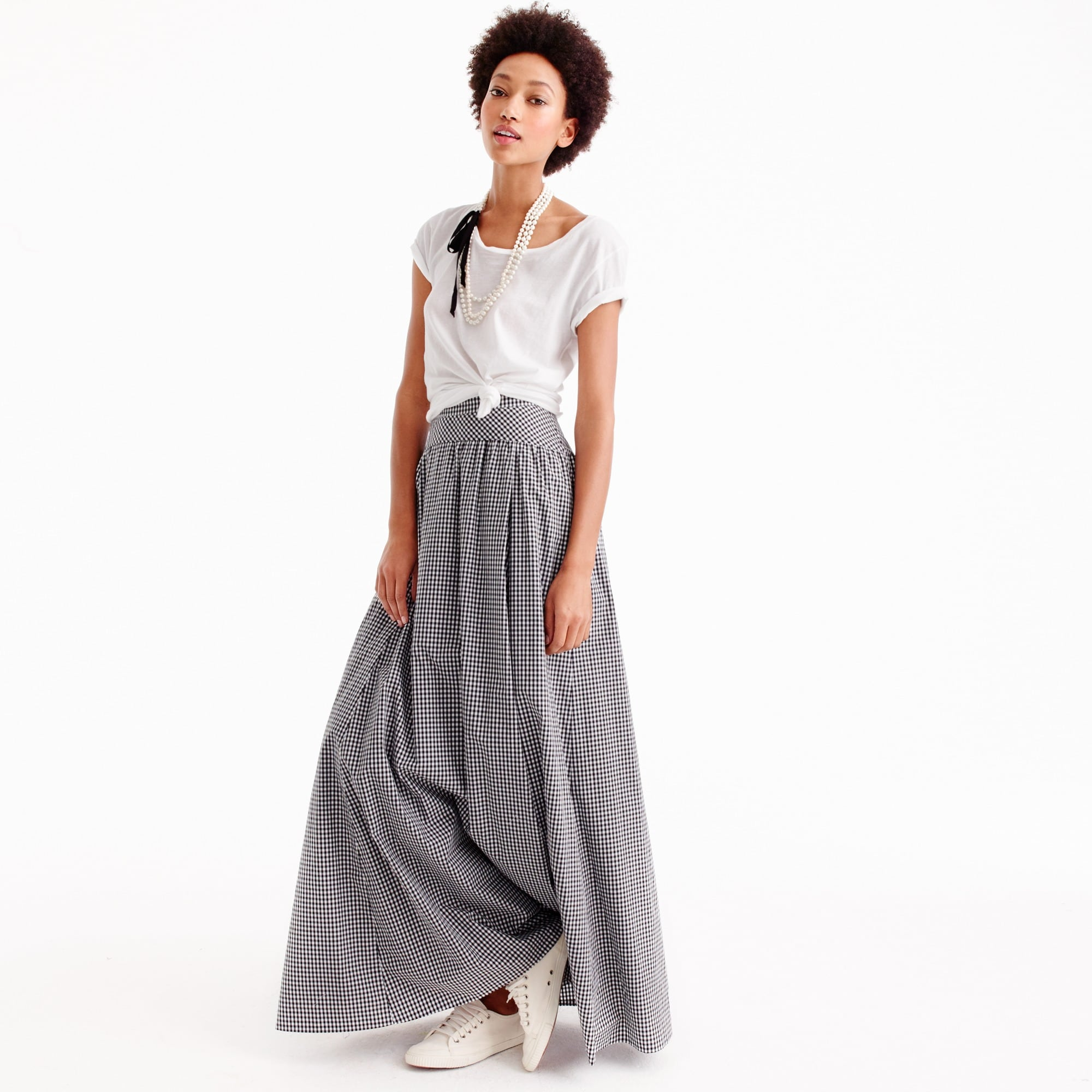 ball skirt in gingham : women maxi