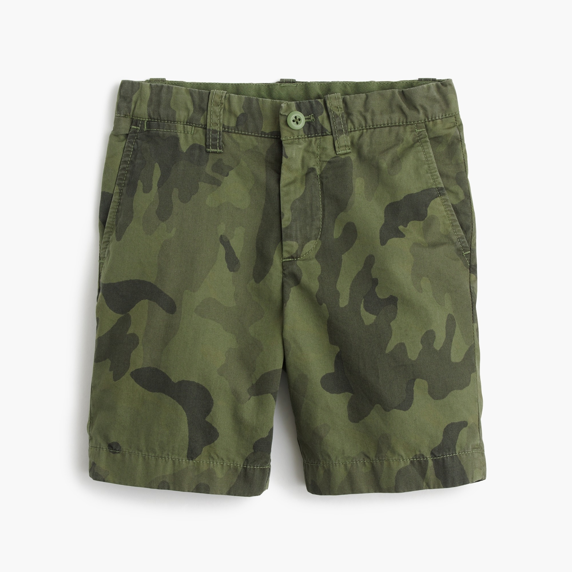 boys' camo stanton short in lightweight garment-dyed chino : boy stanton shorts