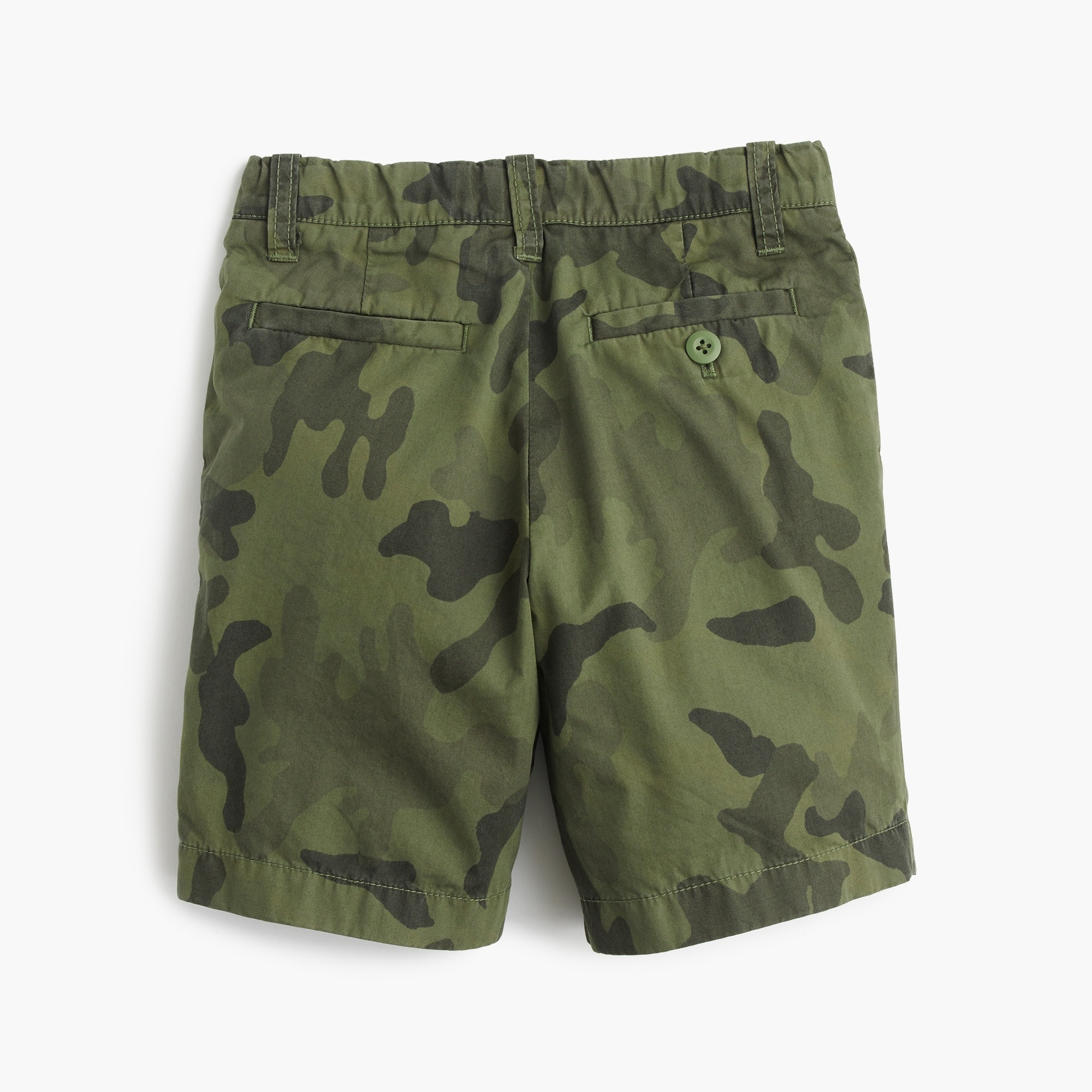 Boys' camo Stanton short in lightweight garment-dyed chino