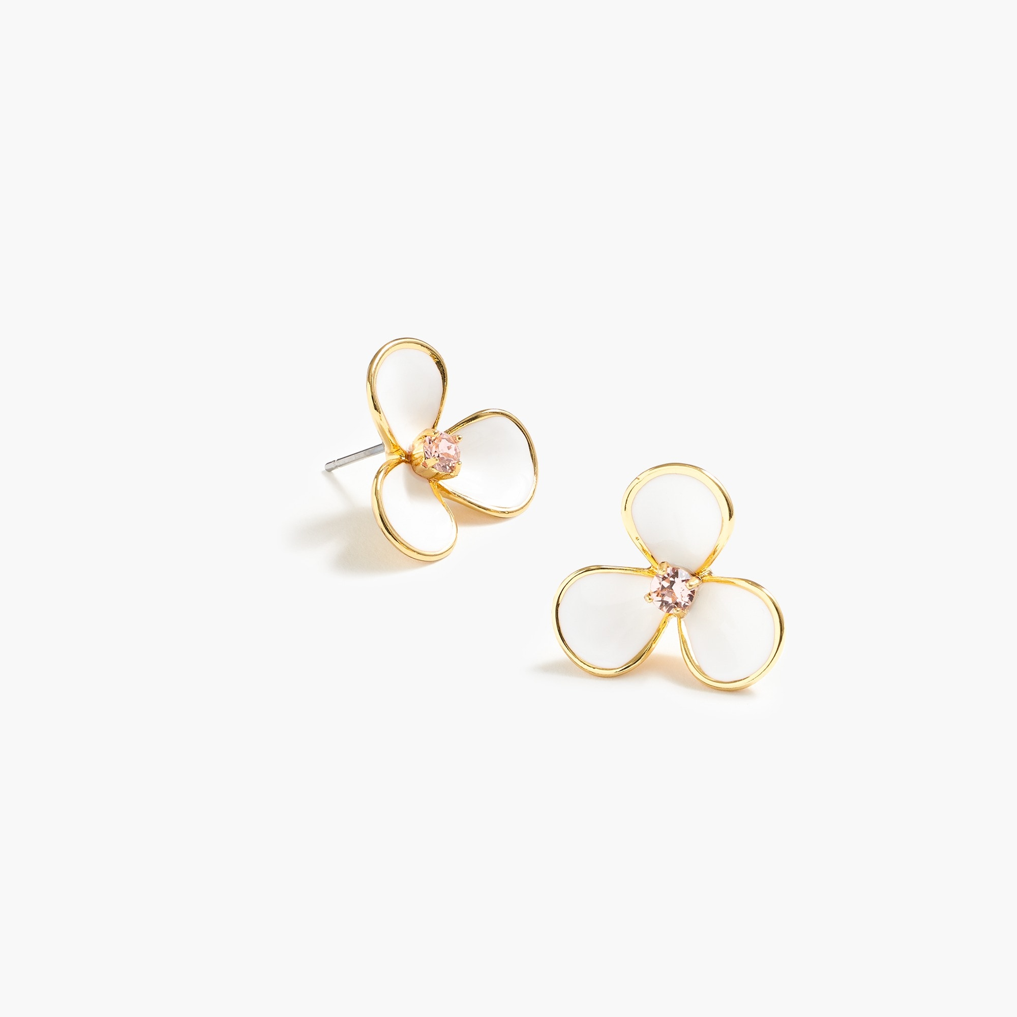 petite petal earrings : women jewelry shop