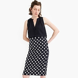 Petite pencil skirt in polka-dot textured tweed