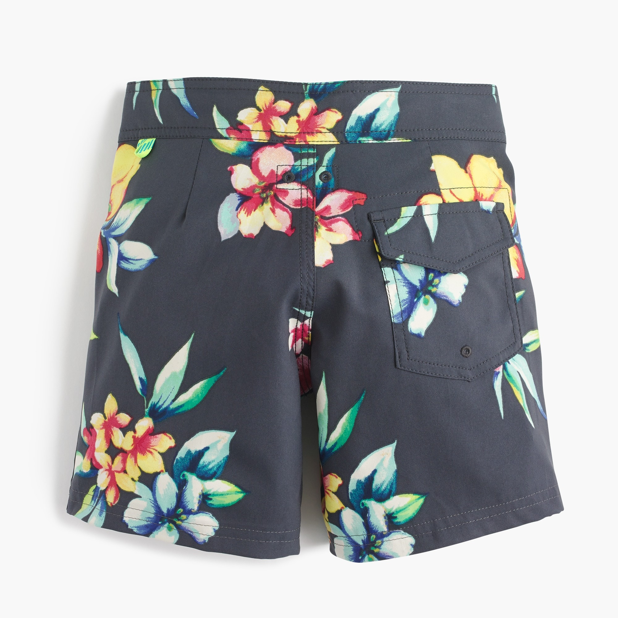Image 2 for Boys' board short in Hawaiian floral