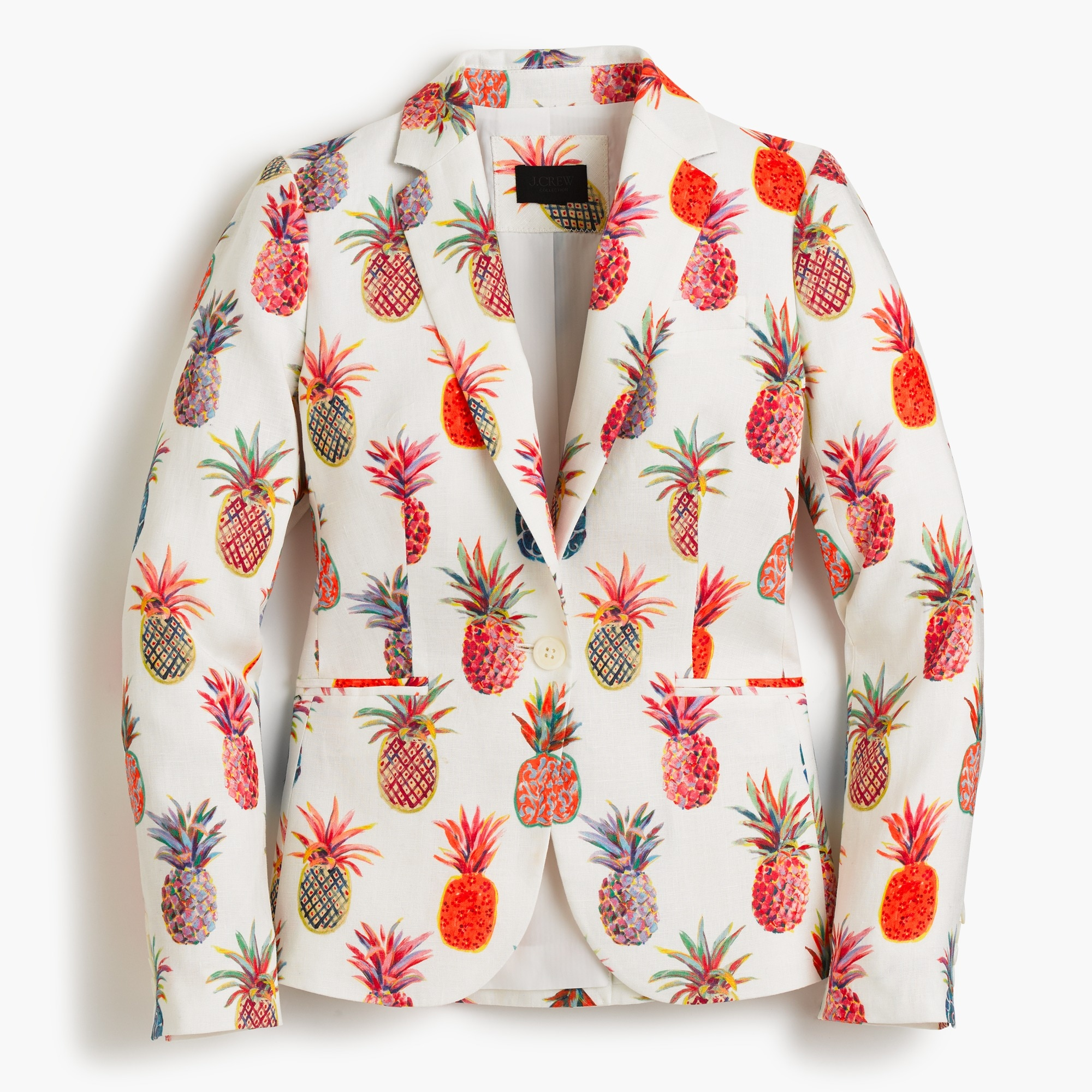 Campbell Italian linen blazer in Ratti® painted pineapple