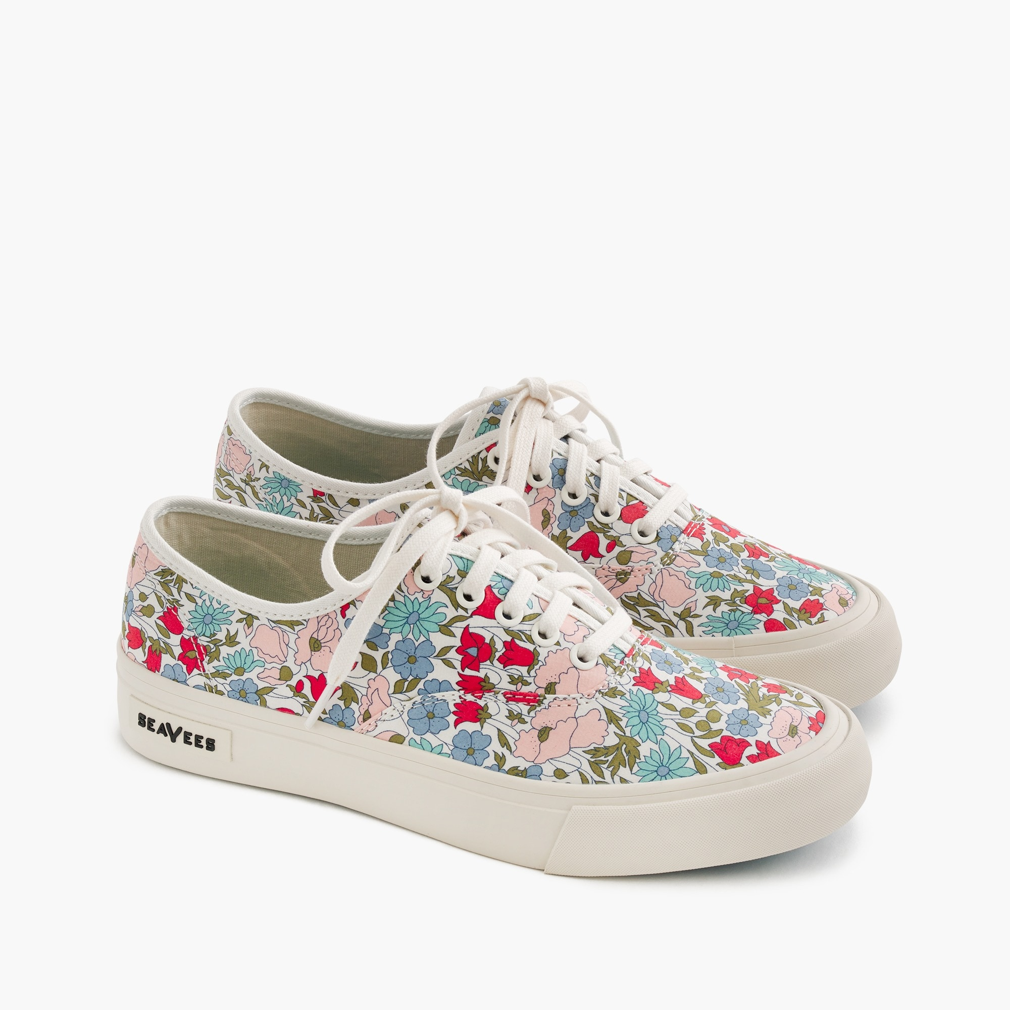 Seavees® for J.Crew Legend sneakers in Liberty poppy & daisy floral