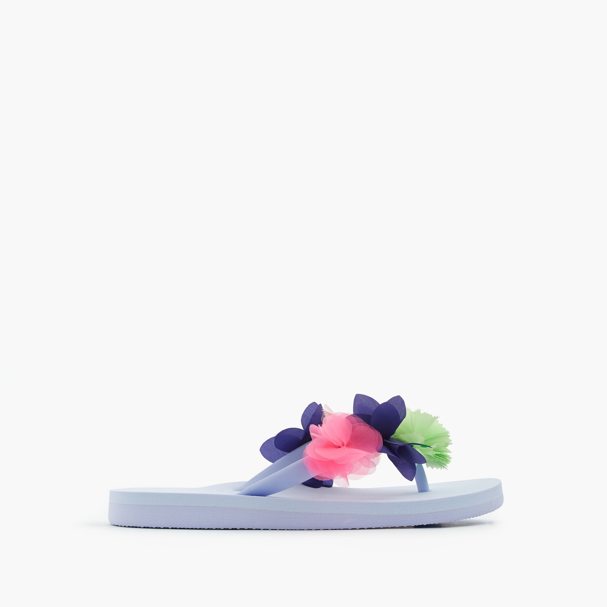 Girls' flip-flops in embellished flowers