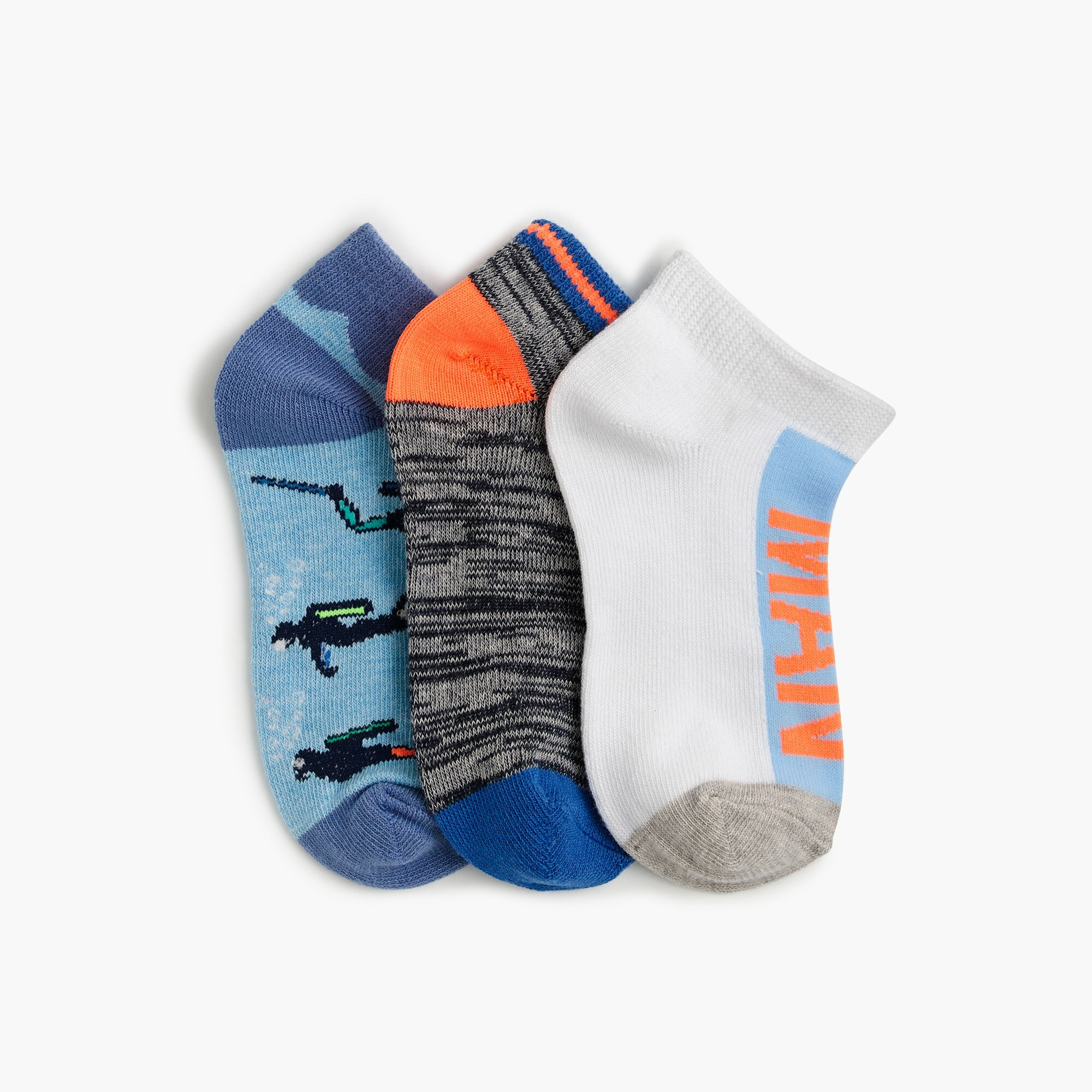 "boys' ""the man"" ankle socks three-pack : boy socks"