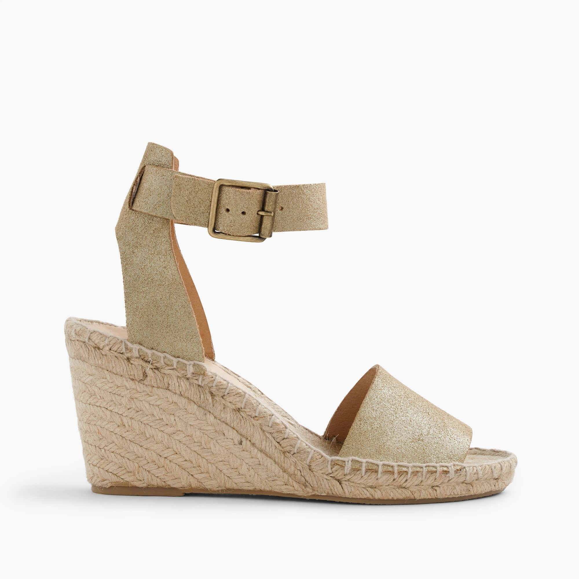 corsica espadrille wedges in metallic suede : women espadrilles