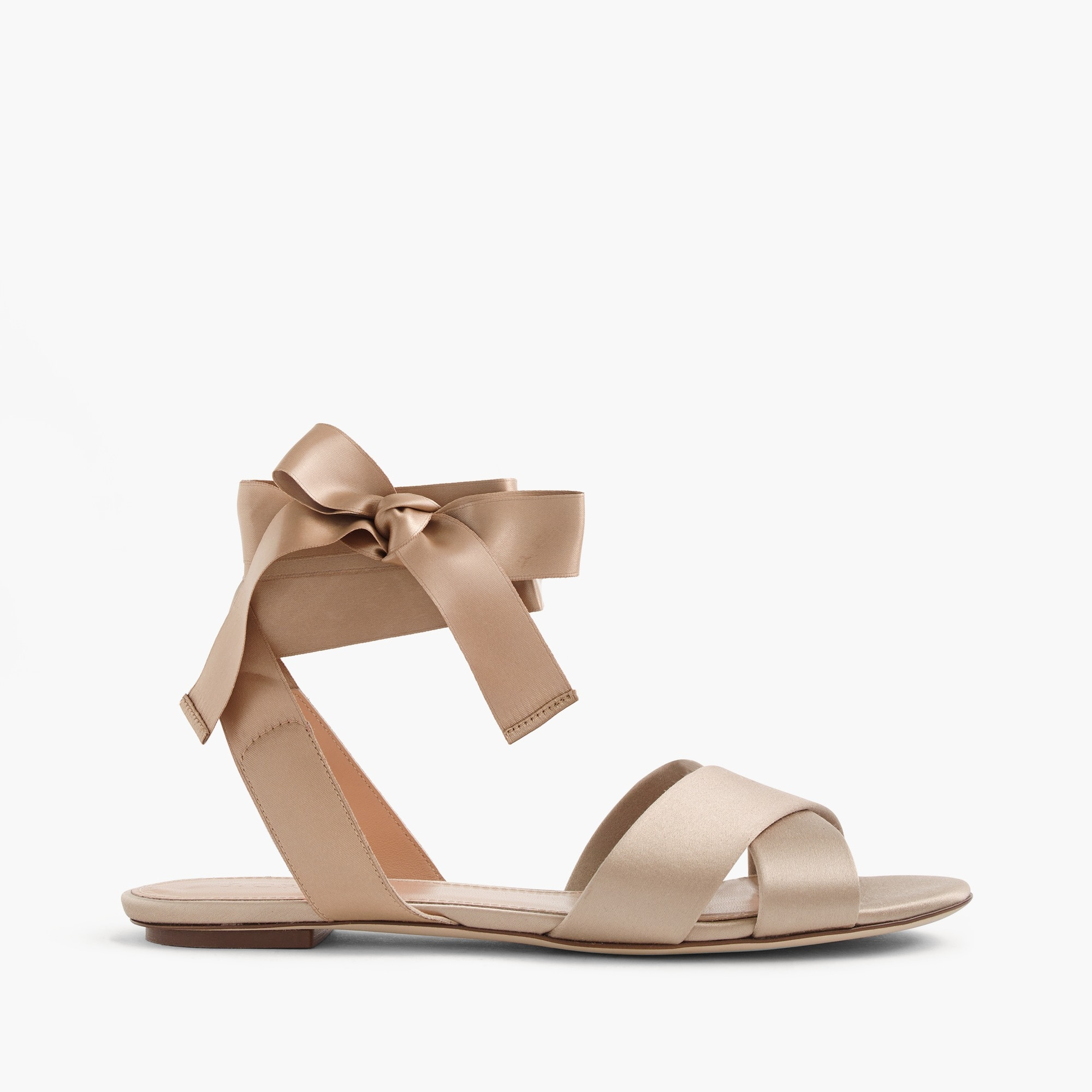 satin cross-strap sandals : women shoes