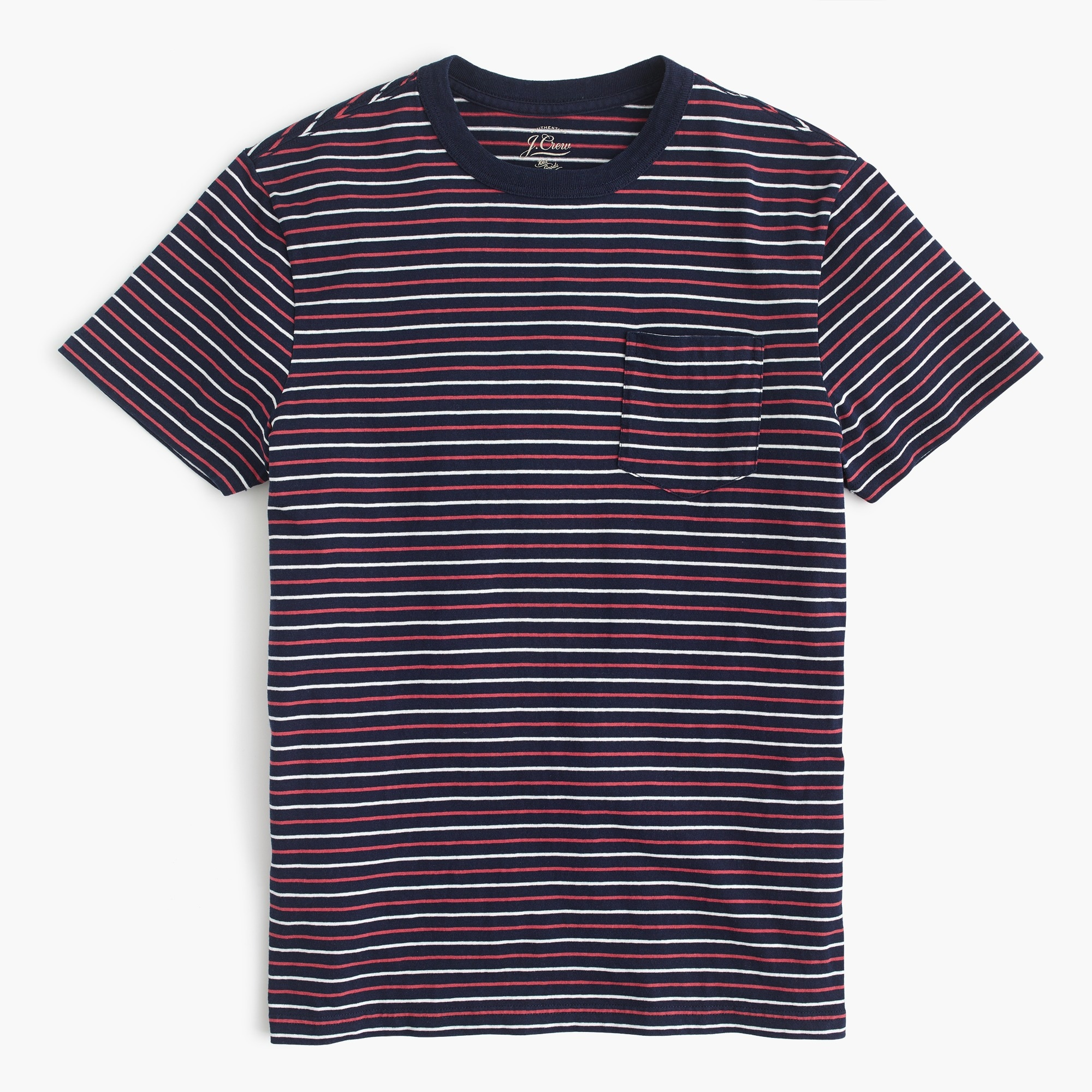 Tall cotton T-shirt in multistripe