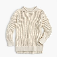 Girls' open-knit beach sweater